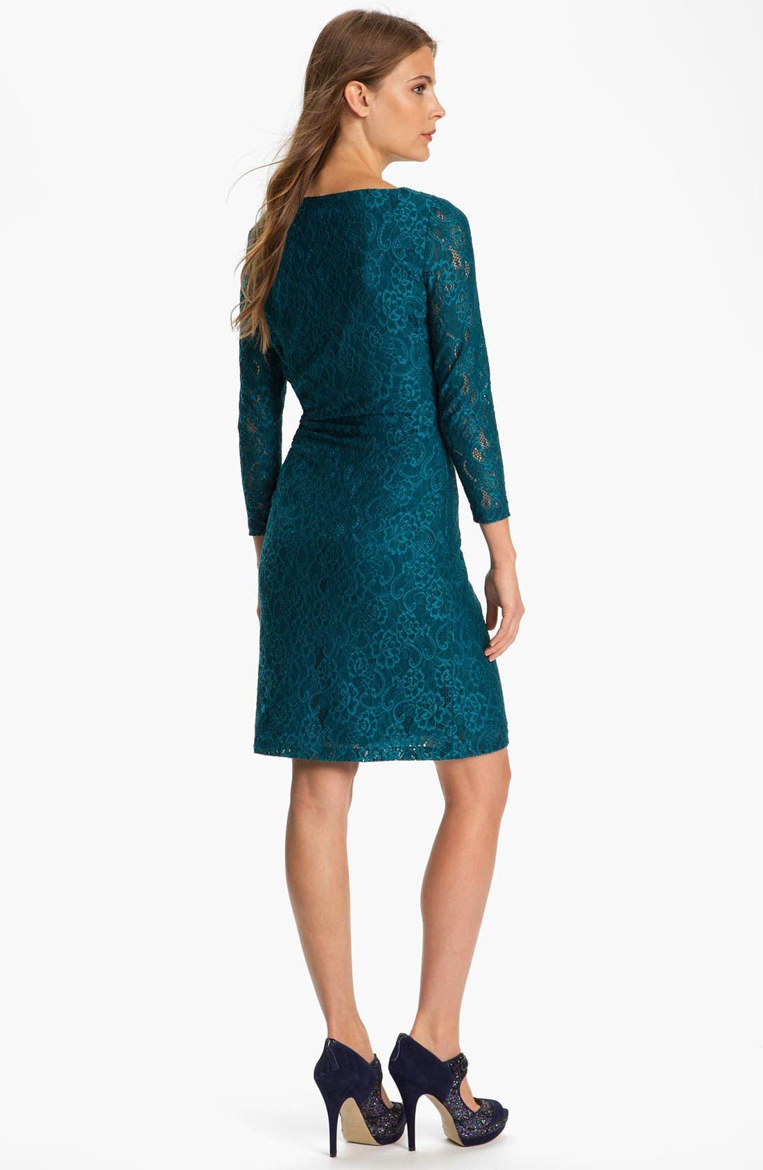 Alternate Image 2  - Tahari Stretch Lace Dress (Petite)