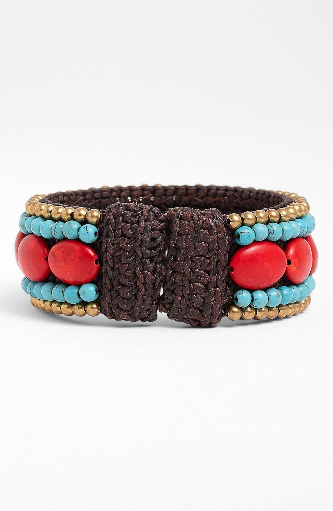 Alternate Image 2  - Panacea Howlite Rope Cuff Bracelet