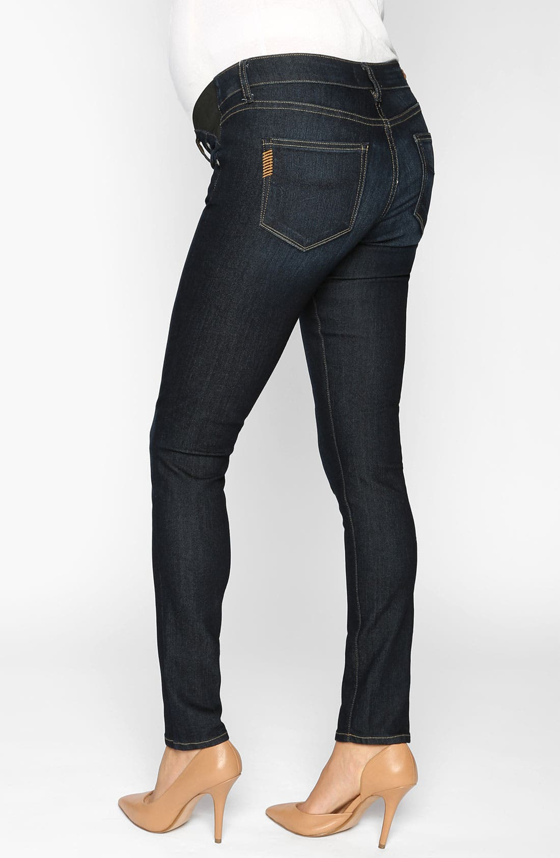 Alternate Image 2  - Paige Denim 'Verdugo' Maternity Ultra Skinny Jeans (Fountain)