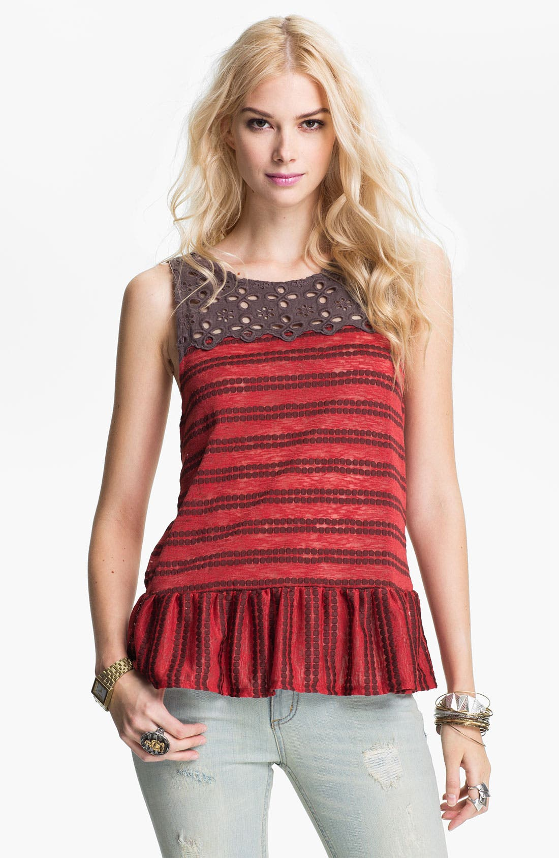 Alternate Image 1 Selected - Free People 'Molly's Retro' Peplum Top