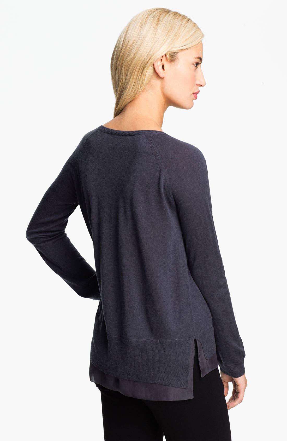Alternate Image 2  - Christopher Fischer 'Gillian' Cashmere & Chiffon Trim Sweater (Online Exclusive)