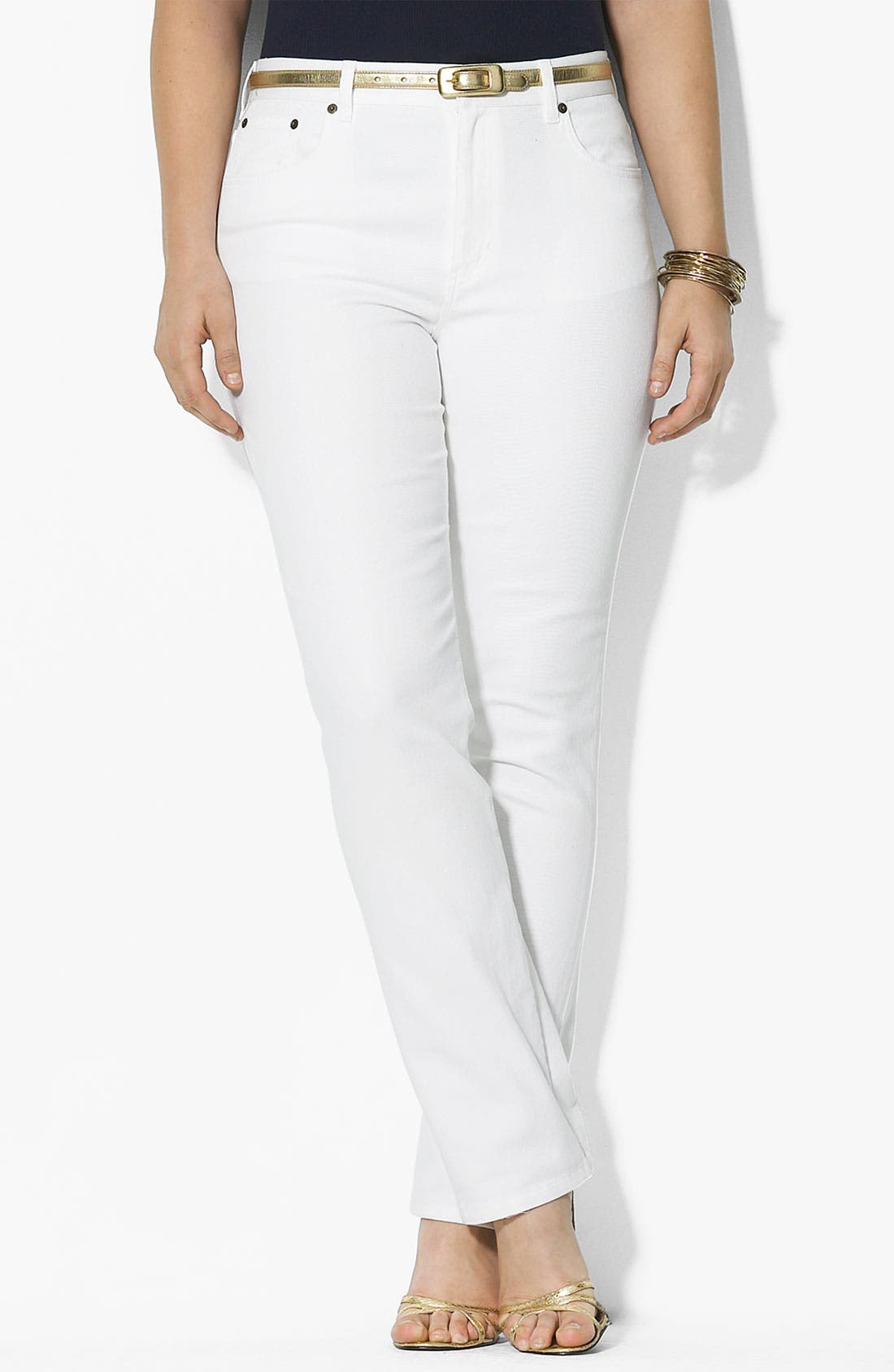Alternate Image 1 Selected - Lauren Ralph Lauren Straight Leg Jeans (Plus)