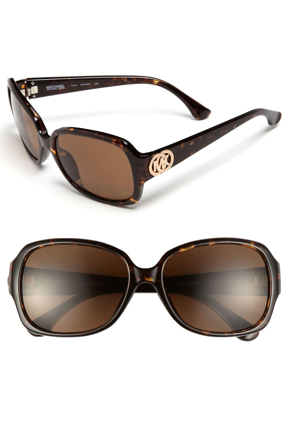 Alternate Image 1 Selected - MICHAEL Michael Kors 'Harper' 57mm Polarized Sunglasses