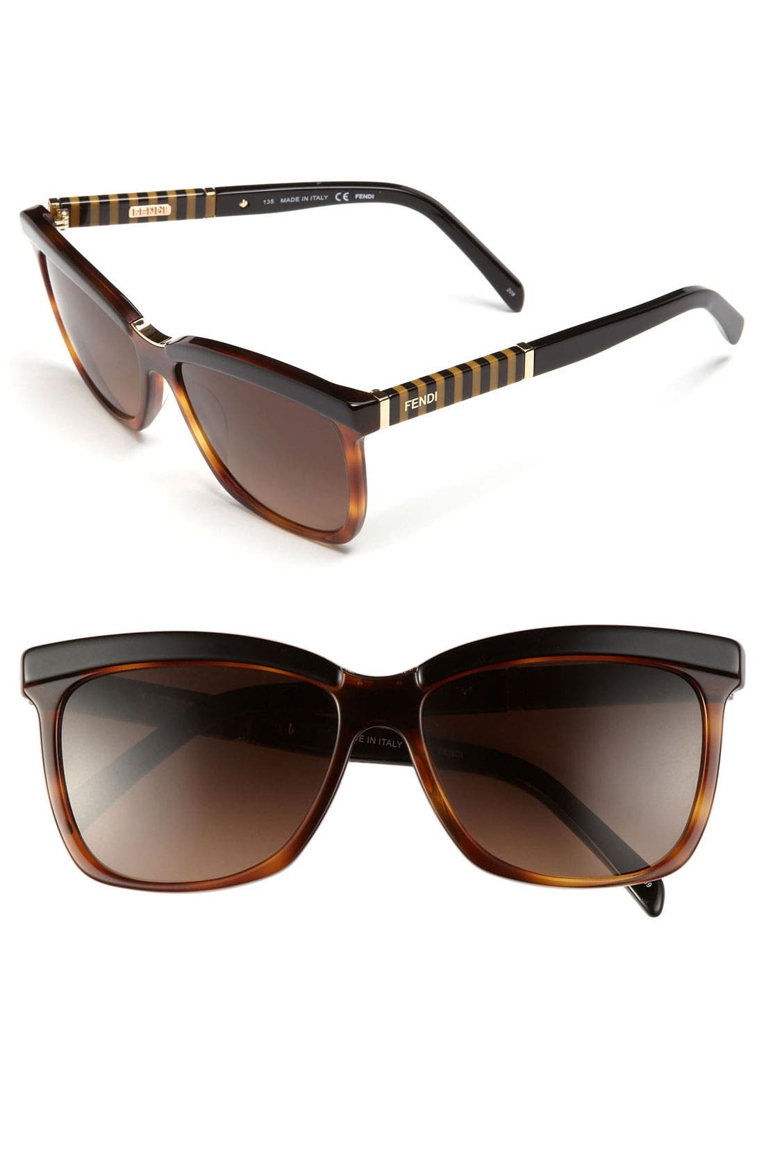 Alternate Image 1 Selected - Fendi 55mm Oversized Sunglasses