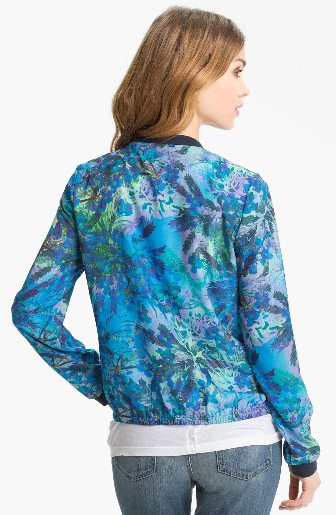 Alternate Image 2  - Hinge® Print Baseball Jacket
