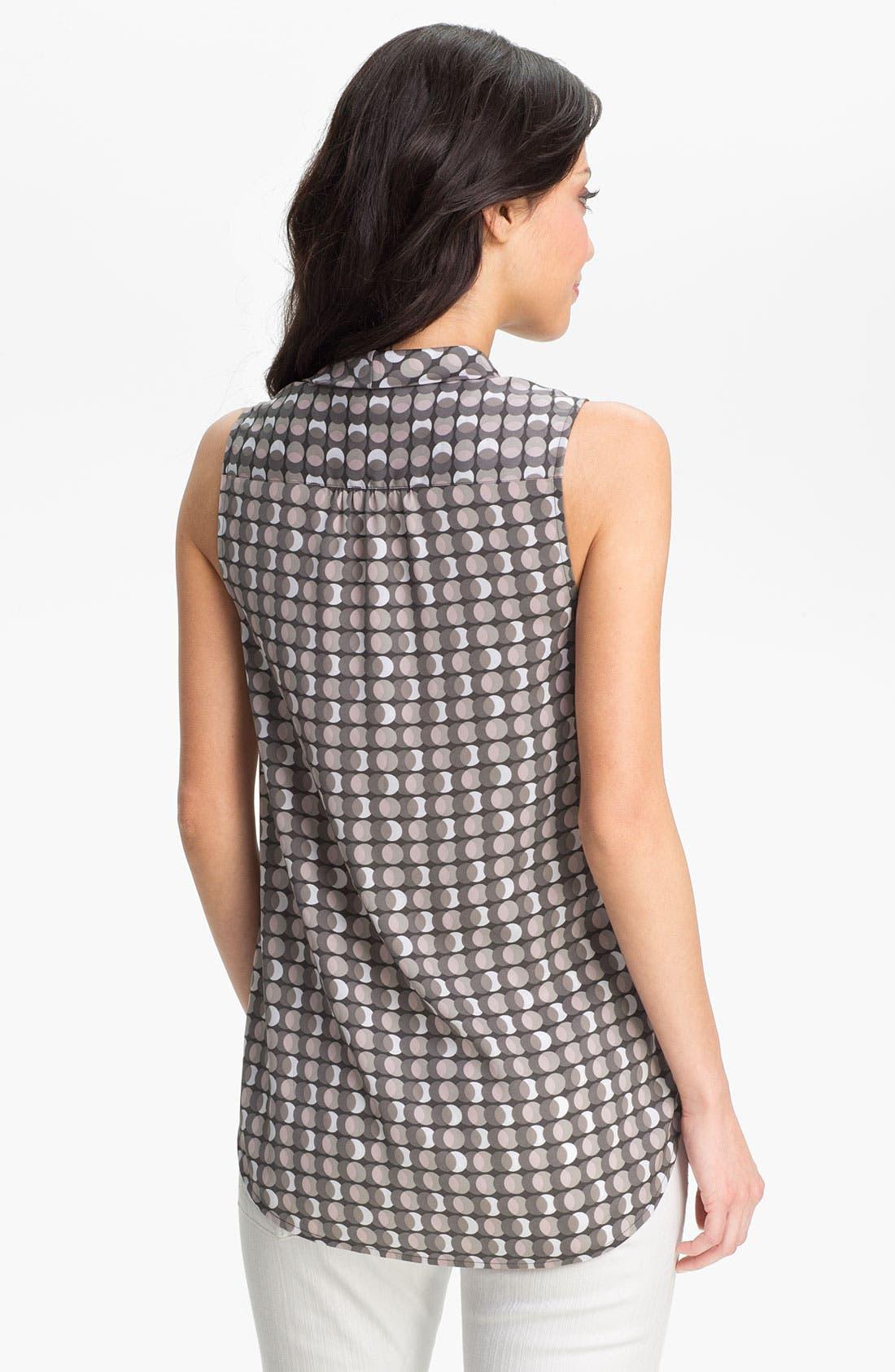 Alternate Image 2  - Halogen® Sleeveless Tie Neck Blouse