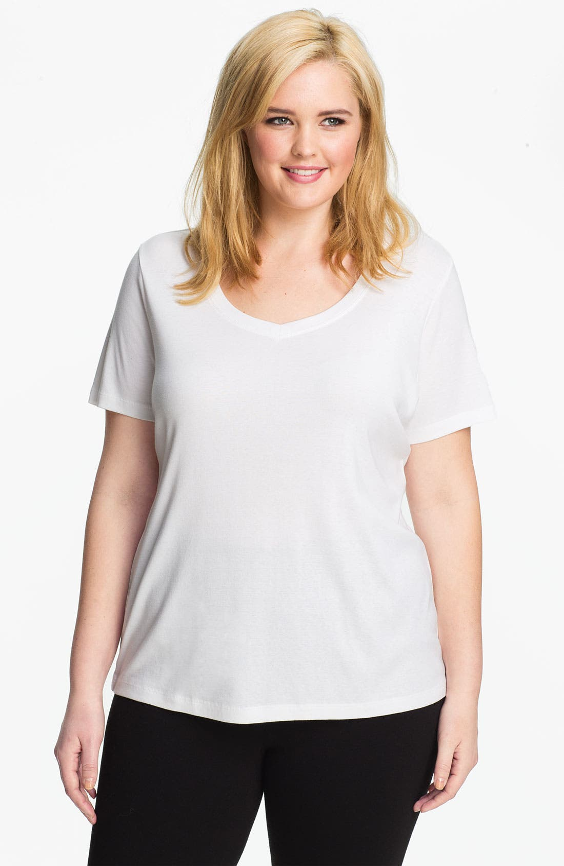 Main Image - Sejour Short Sleeve Tee (Plus Size)