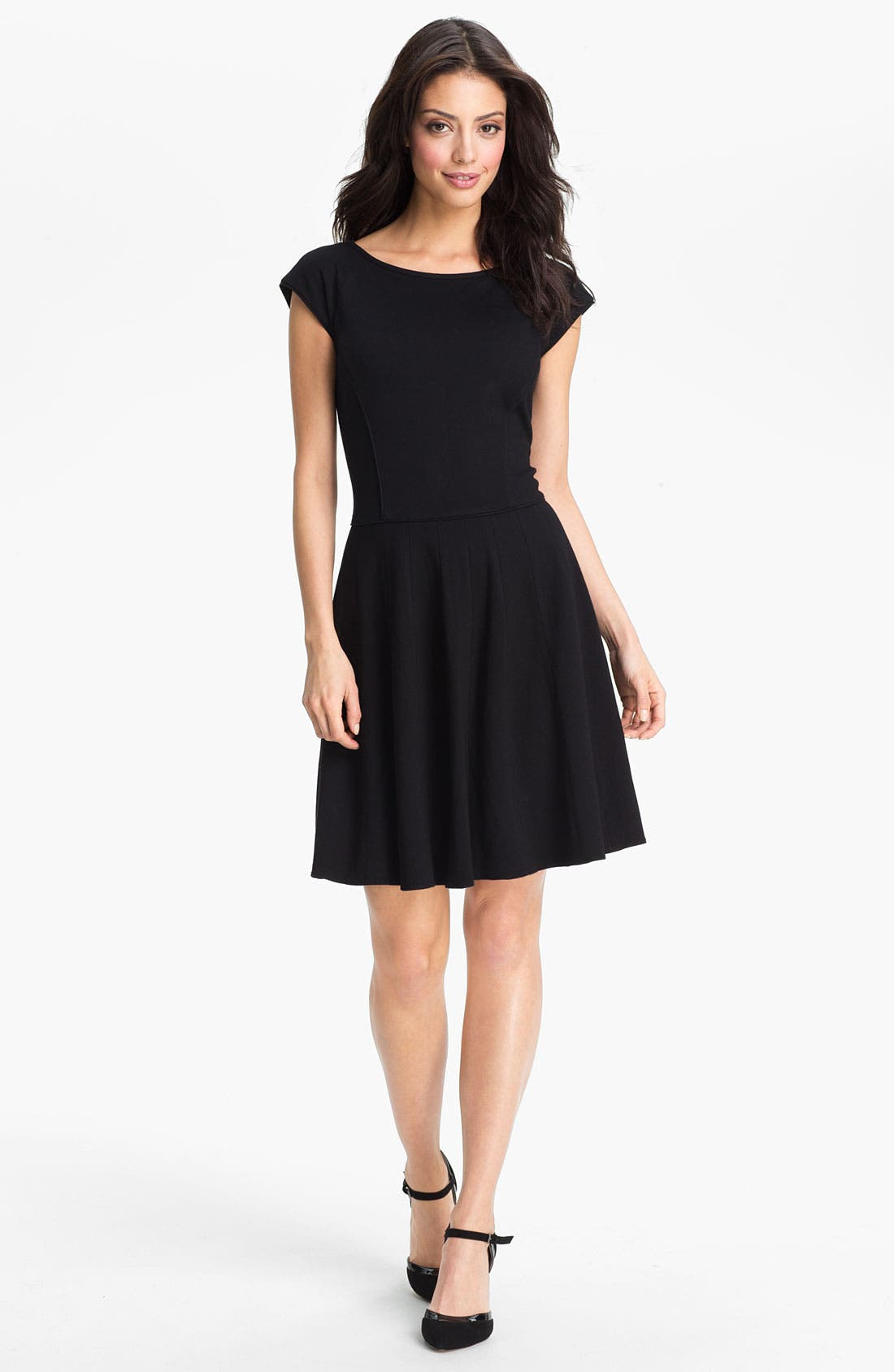 Alternate Image 1 Selected - Eliza J Pleated Fit & Flare Dress