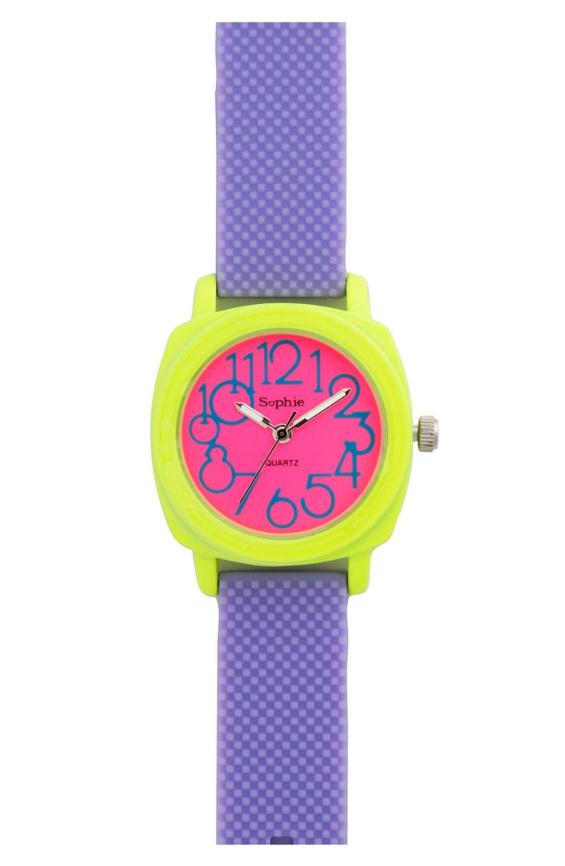 Main Image - Titanium Neon Strap Watch (Girls)