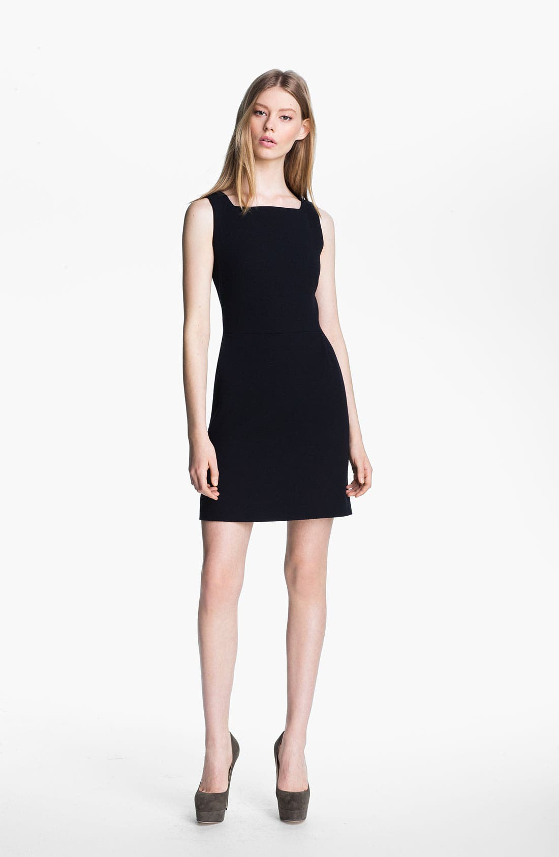 Alternate Image 1 Selected - Victoria, Victoria Beckham Textured Wool Dress