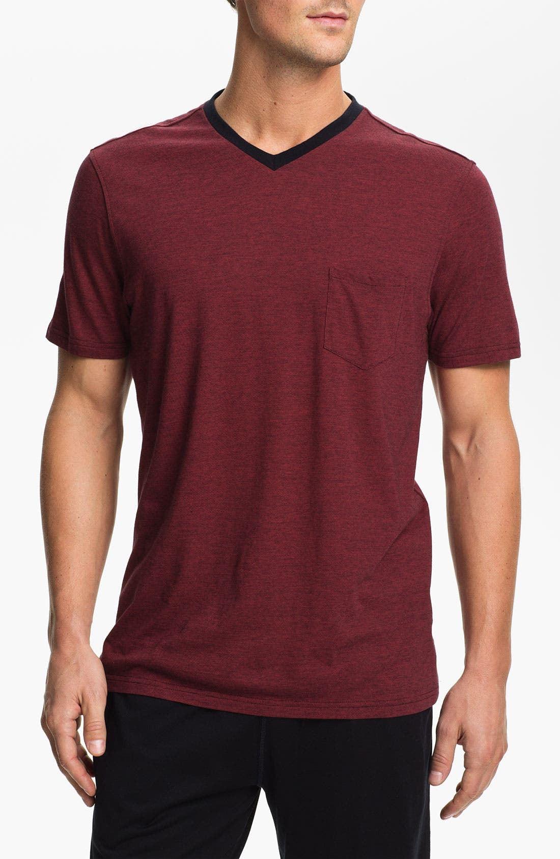 Main Image - Daniel Buchler Pima Cotton & Modal V-Neck T-Shirt