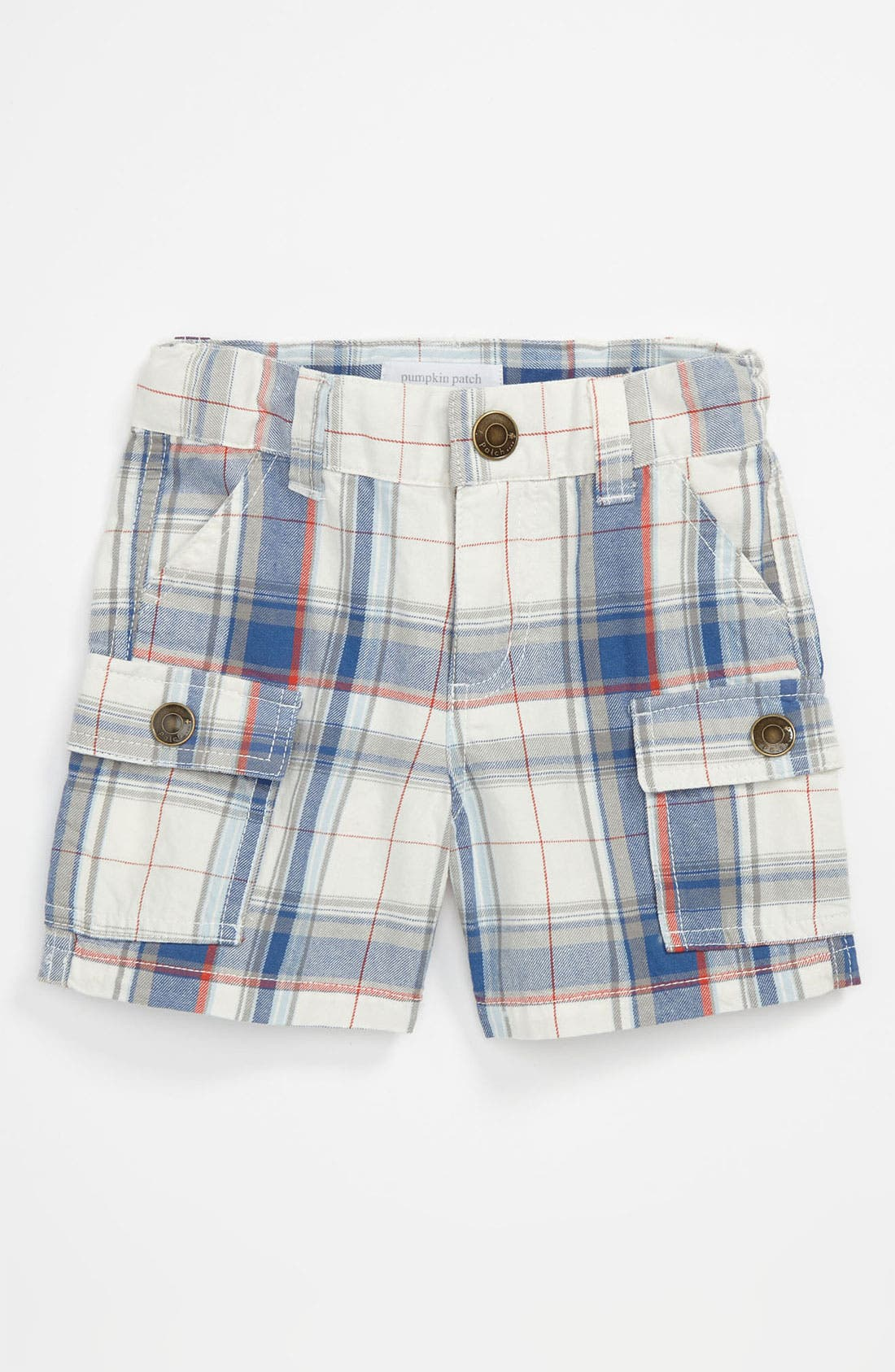 Alternate Image 1 Selected - Pumpkin Patch Plaid Cargo Shorts (Infant)