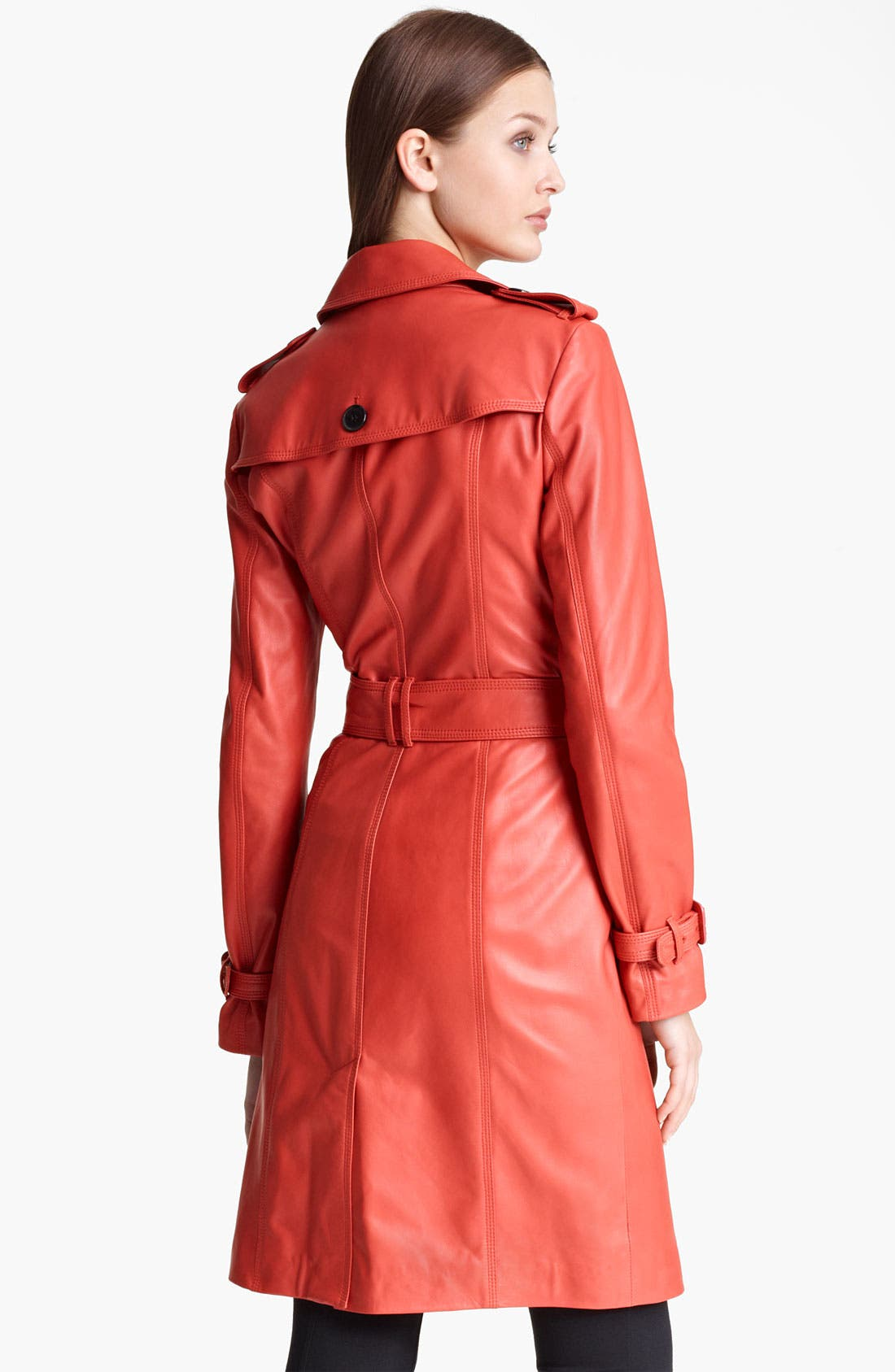 Alternate Image 3  - Burberry London Lightweight Leather Trench Coat