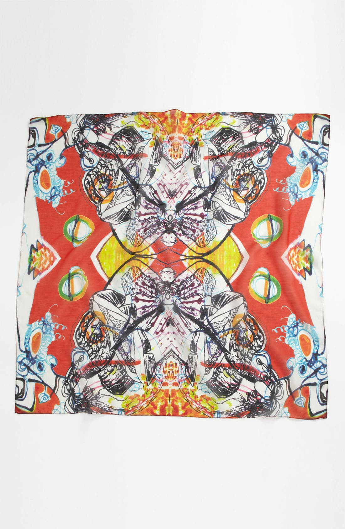 Alternate Image 2  - Front Row Society 'Daria Sunset' Cotton & Silk Scarf