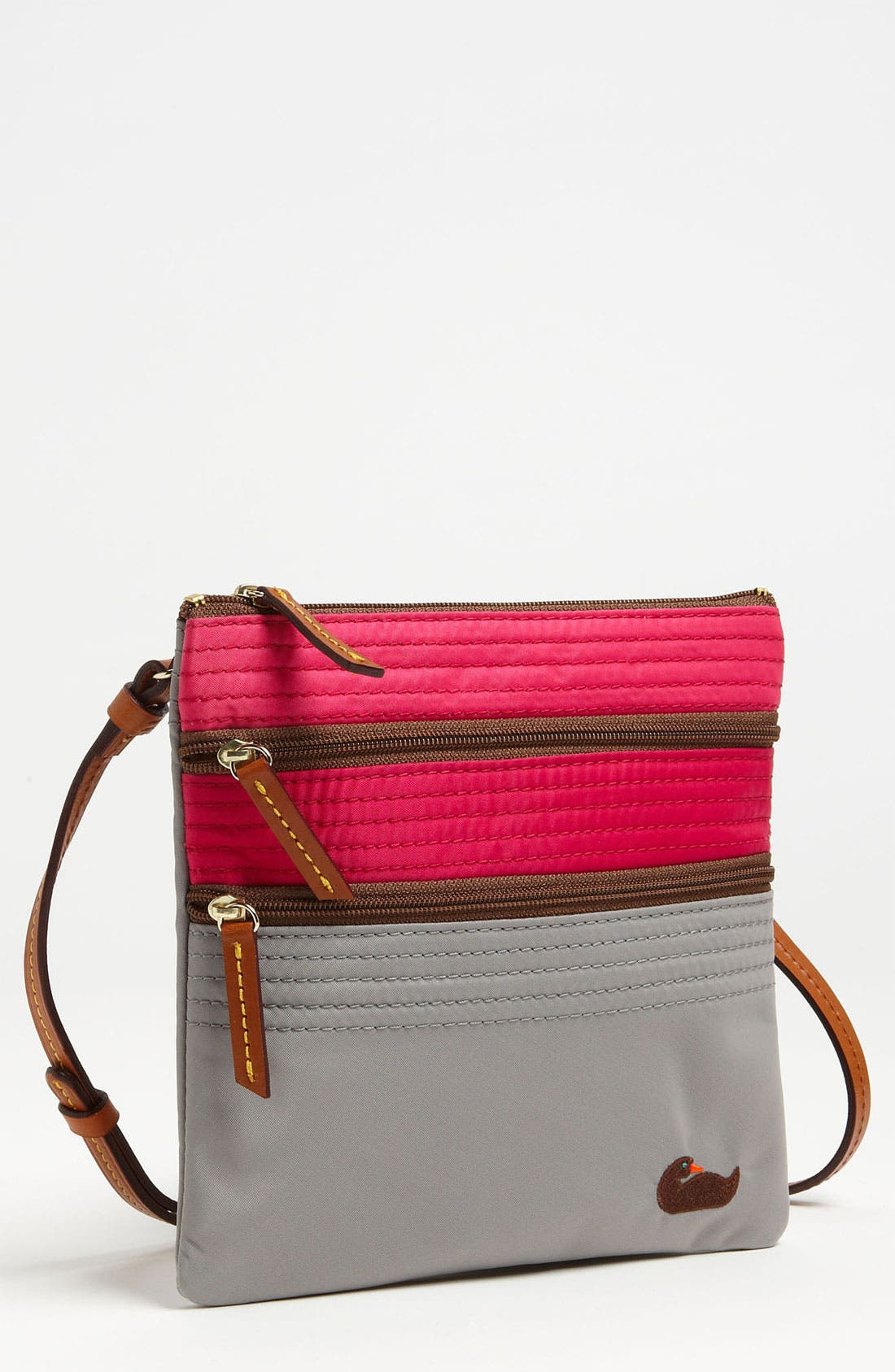 Alternate Image 1 Selected - Dooney & Bourke Triple Zip Crossbody Bag