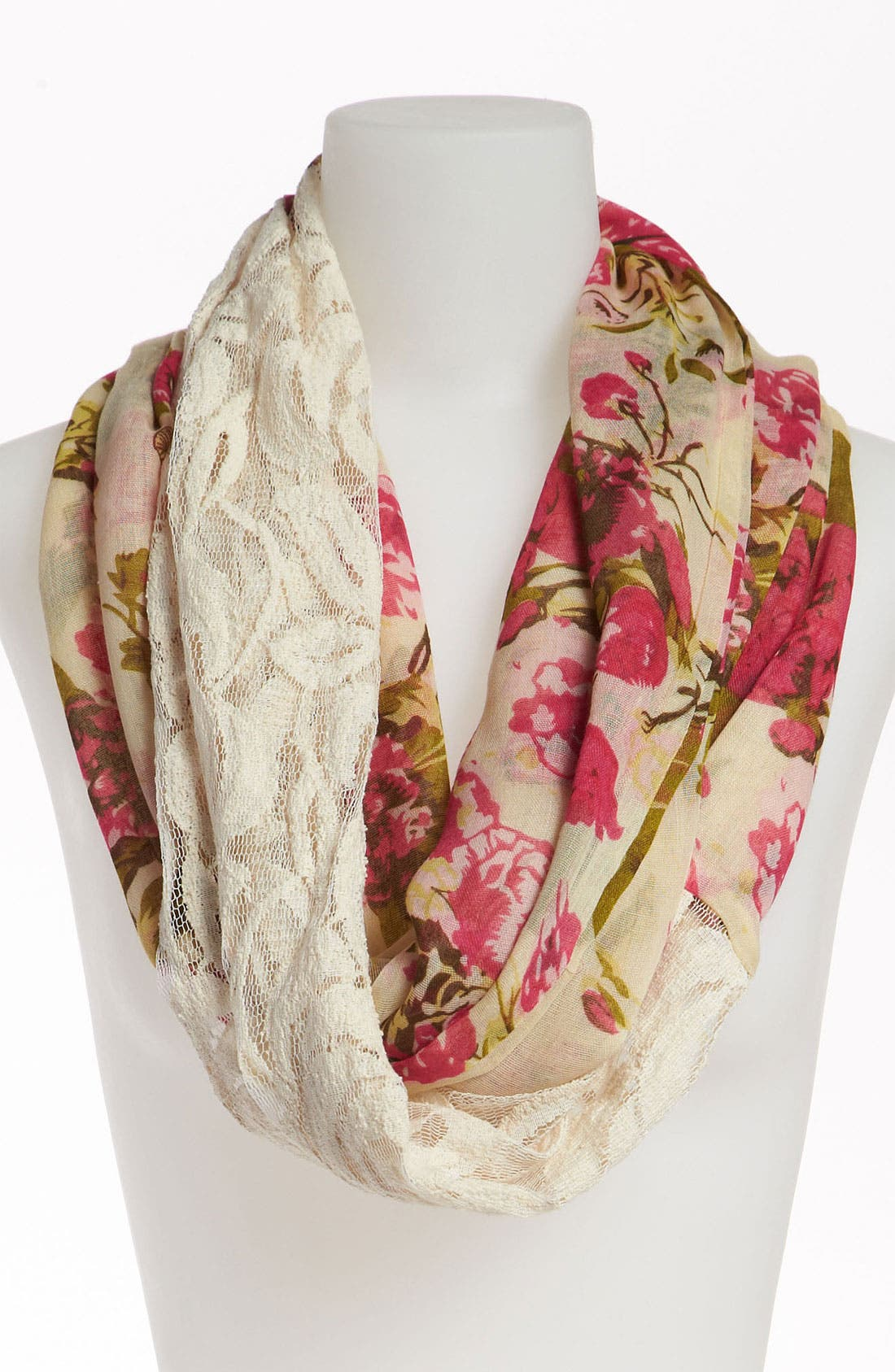 Main Image - BP. Floral Lace Infinity Scarf