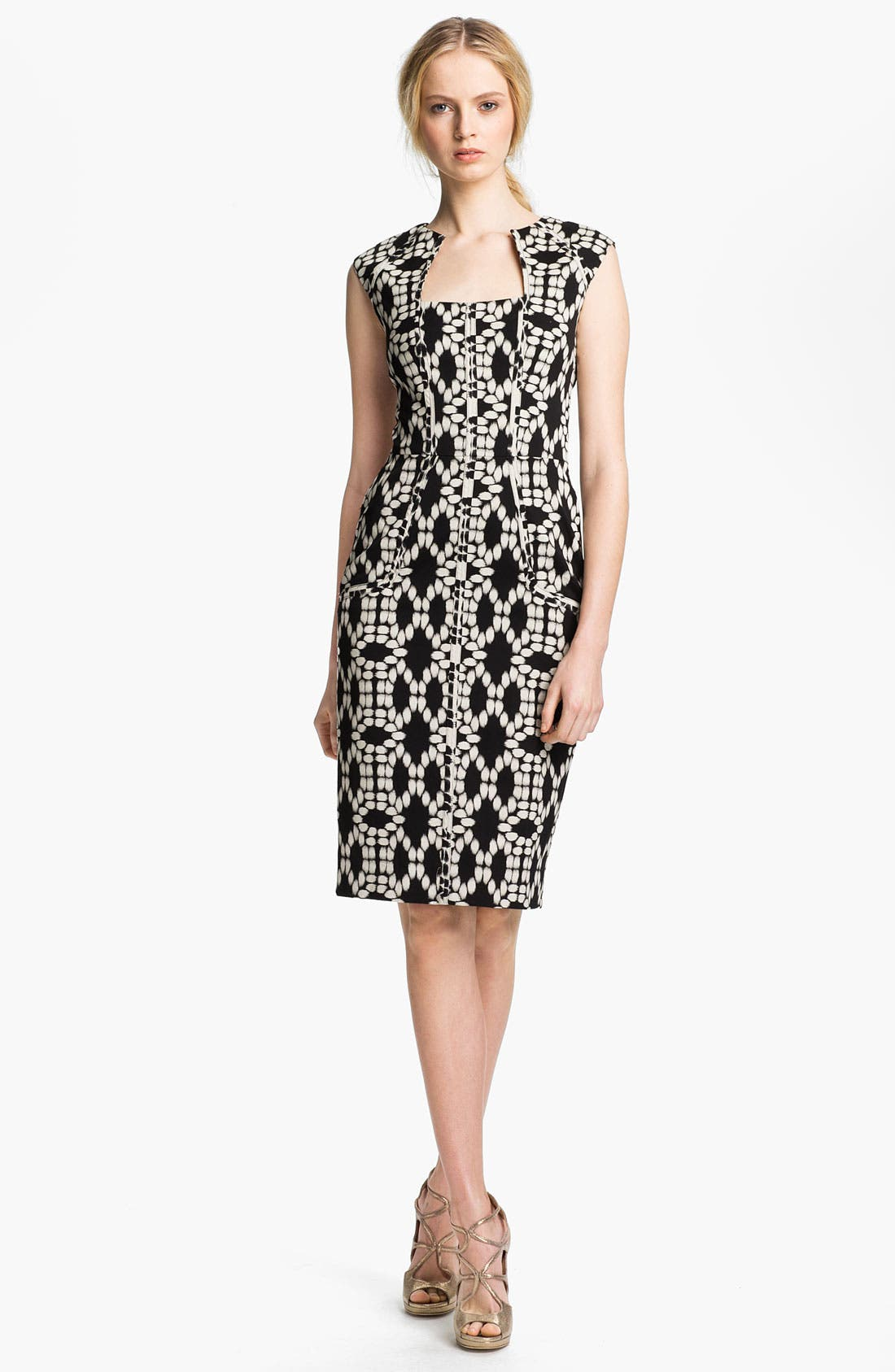 Alternate Image 1 Selected - Lela Rose Print Sheath Dress