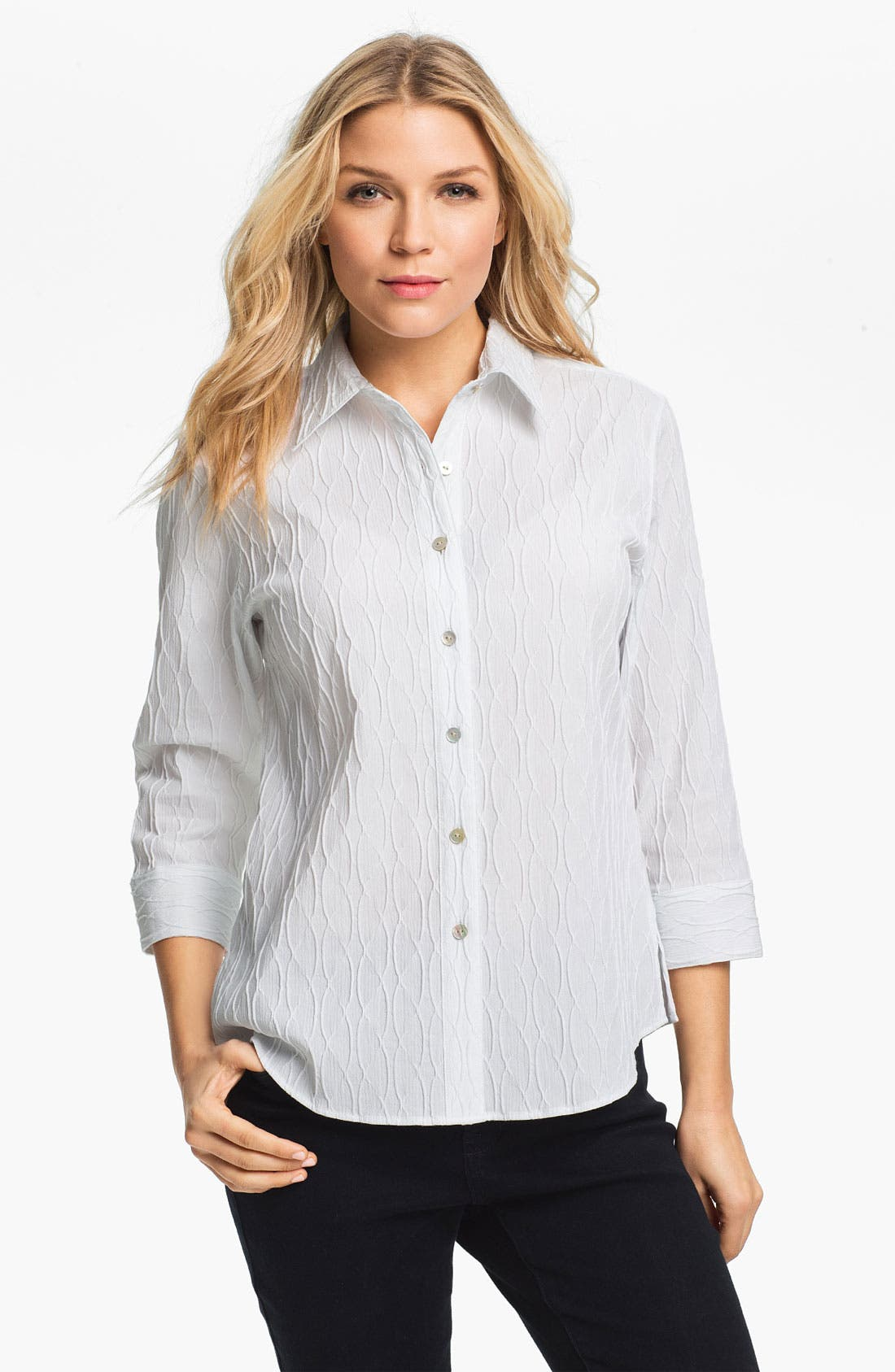 Alternate Image 1 Selected - Foxcroft Textured Shirt
