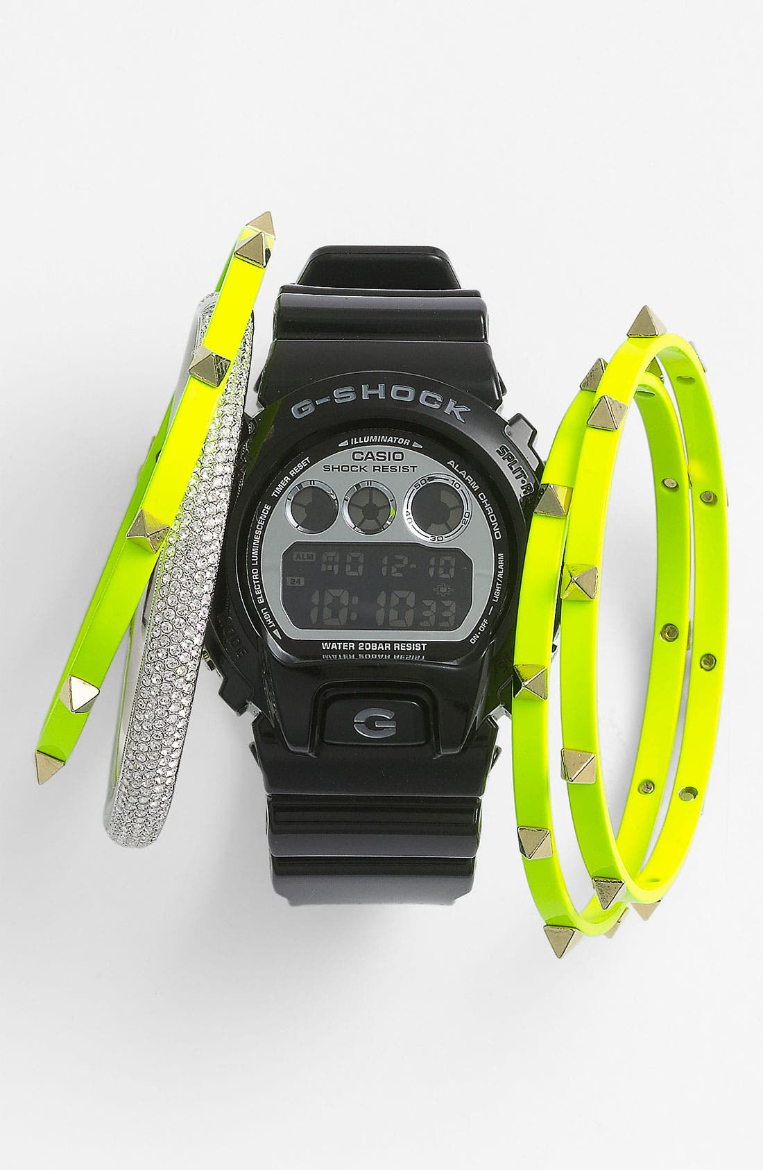 Main Image - Casio Watch & Cara Accessories Bangles