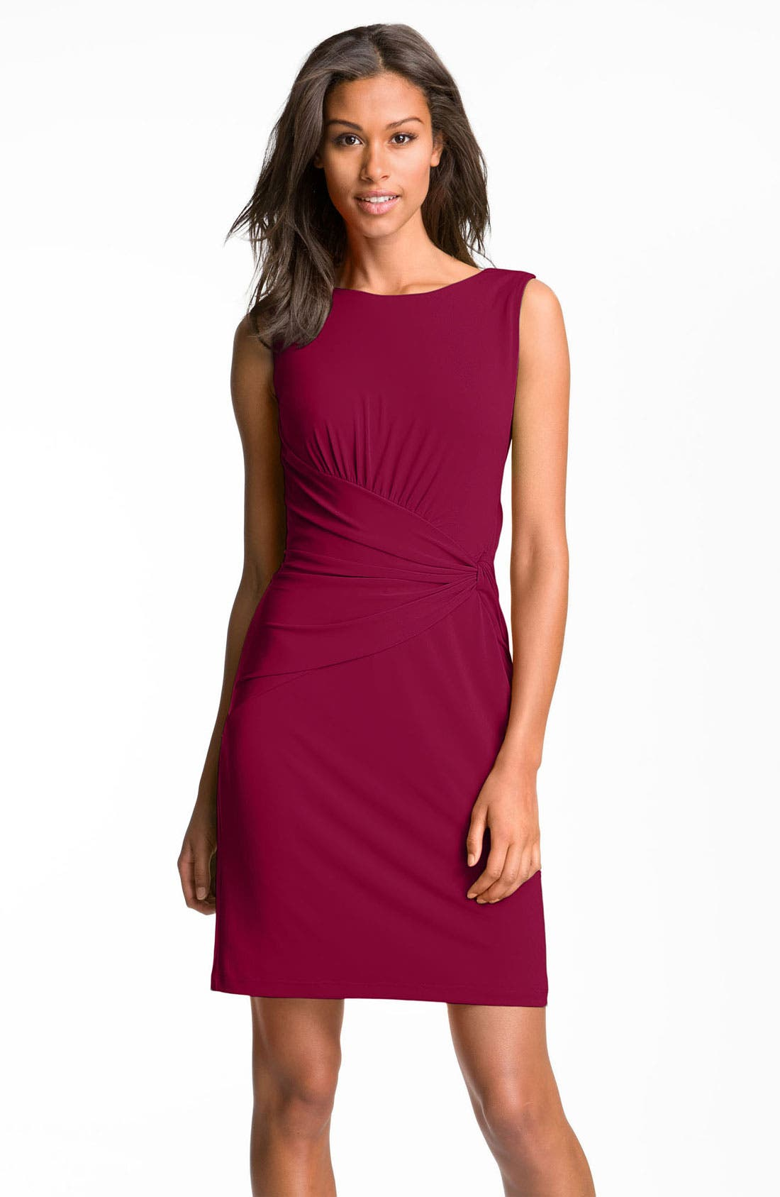 Main Image - Suzi Chin for Maggy Boutique Sleeveless Knotted Jersey Sheath Dress