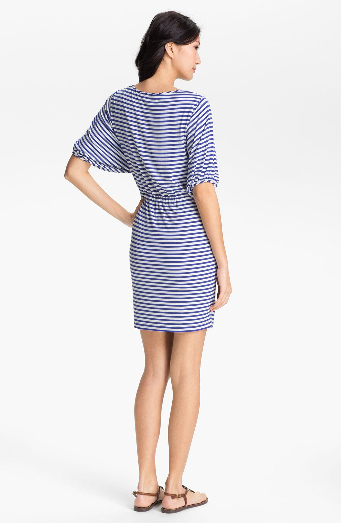 Alternate Image 2  - Calvin Klein Blouson Sleeve Stripe Jersey Dress