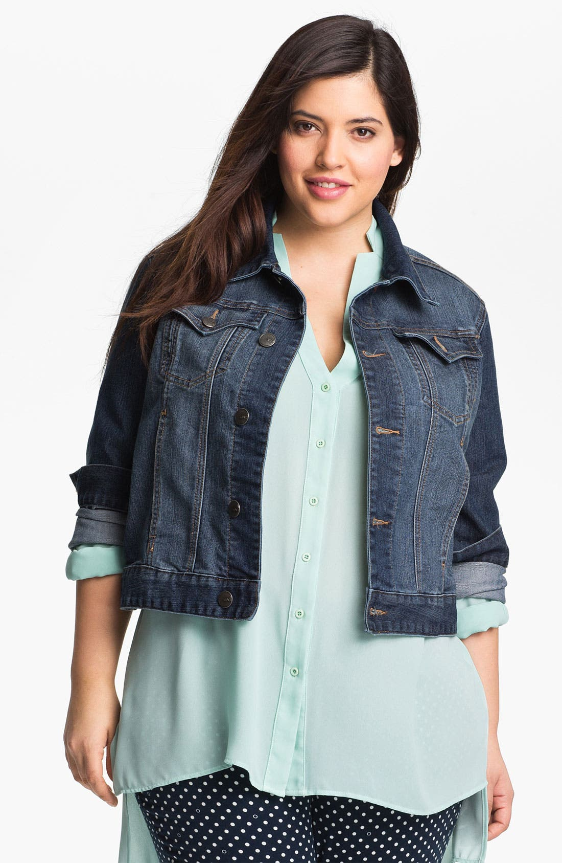 Main Image - Jag Jeans 'Rupert' Denim Jacket (Plus Size)