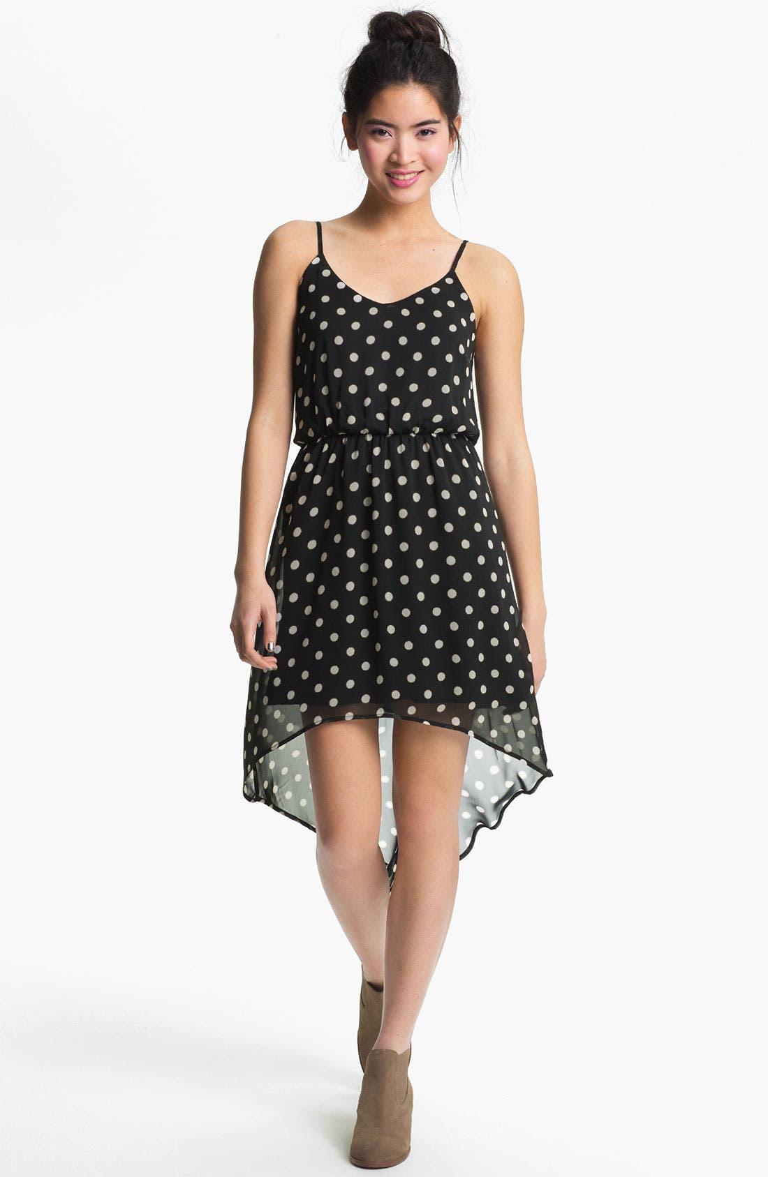 Main Image - High/Low Print Chiffon Dress