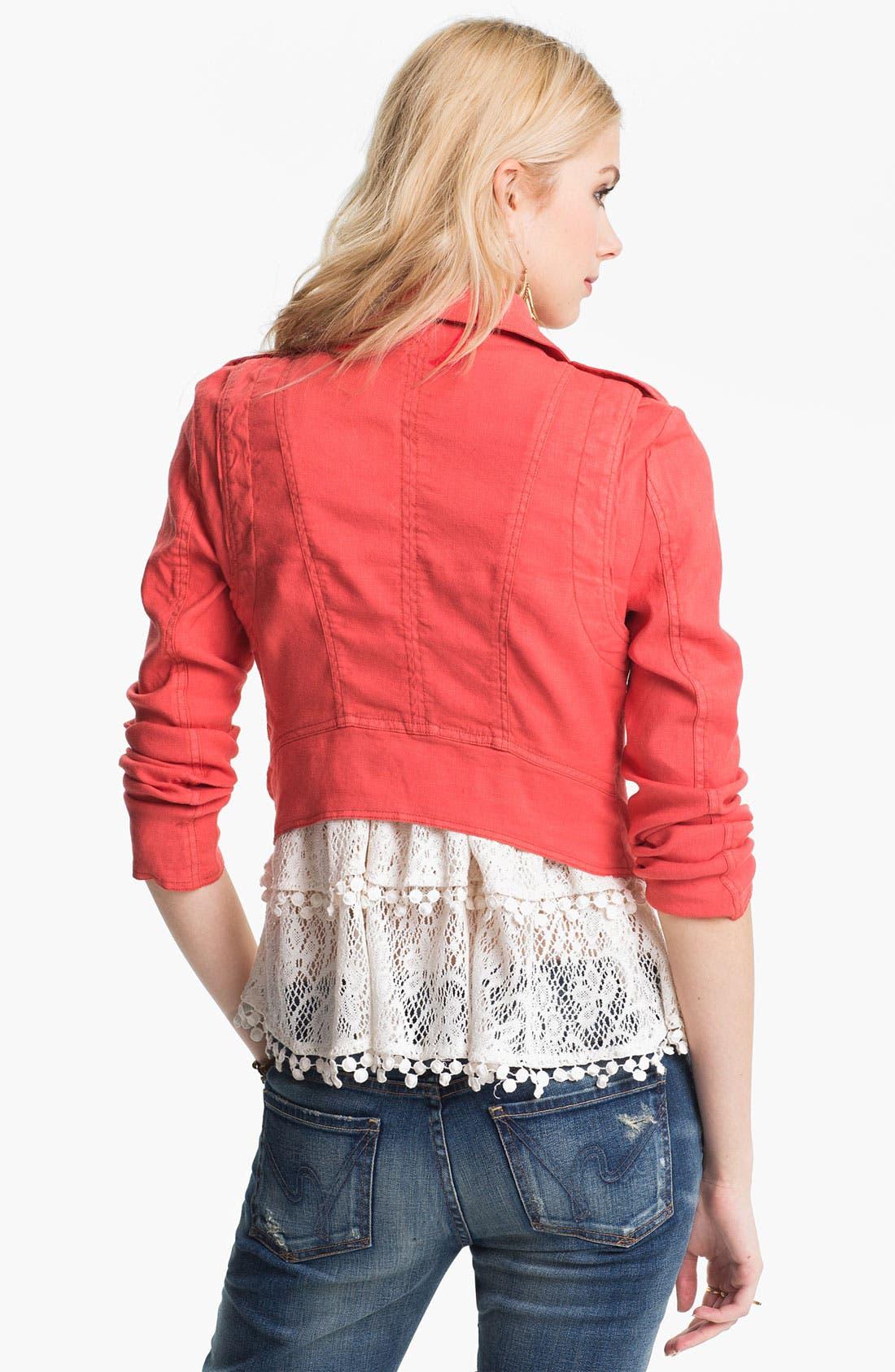 Alternate Image 2  - Free People Linen Moto Jacket