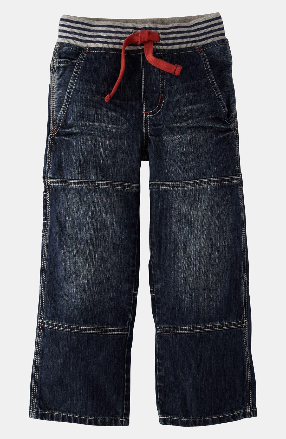 Main Image - Mini Boden Ribbed Waist Carpenter Pants (Little Boys & Big Boys)
