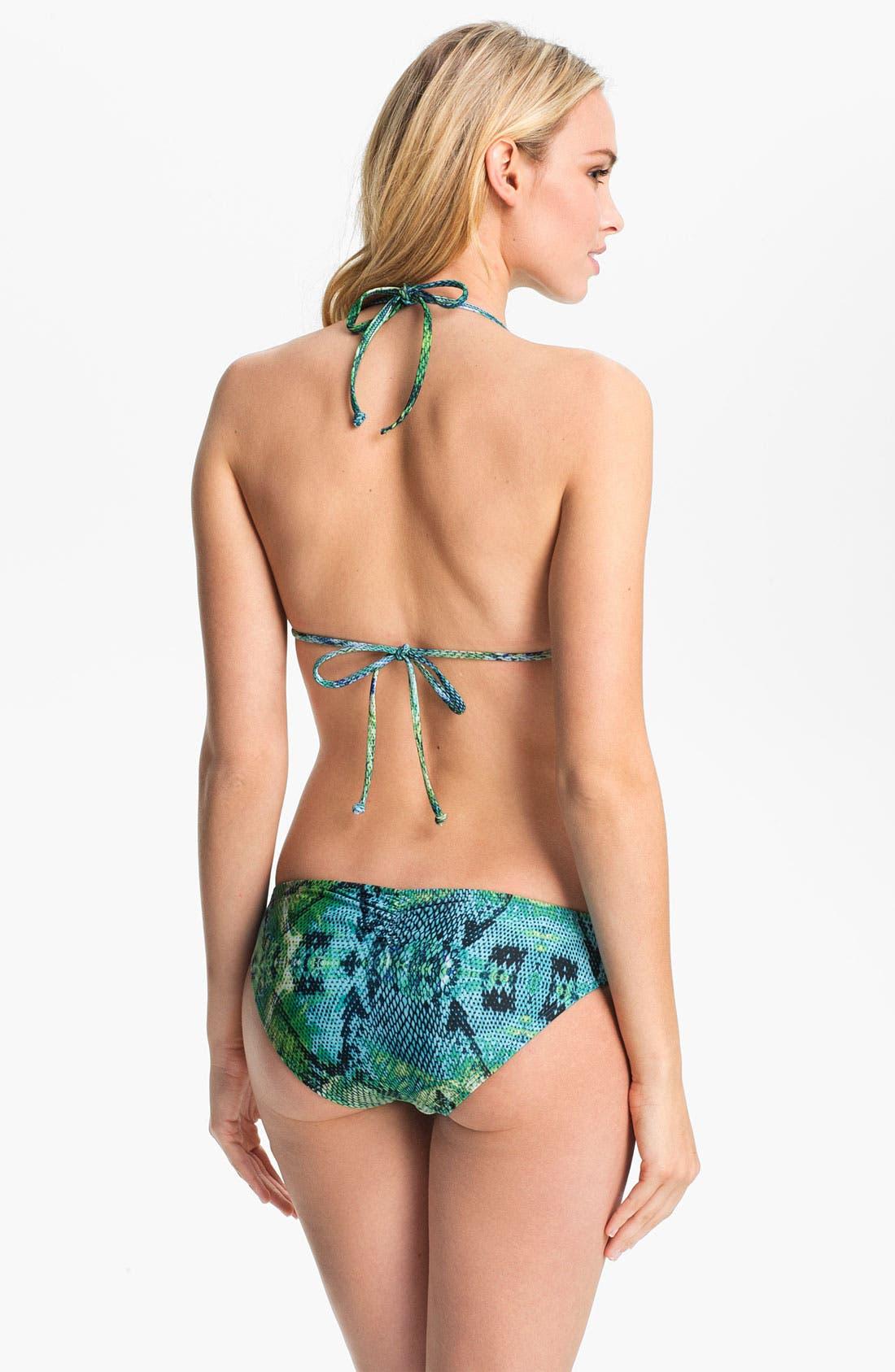 Alternate Image 5  - L Space Fringed Halter Bikini Top