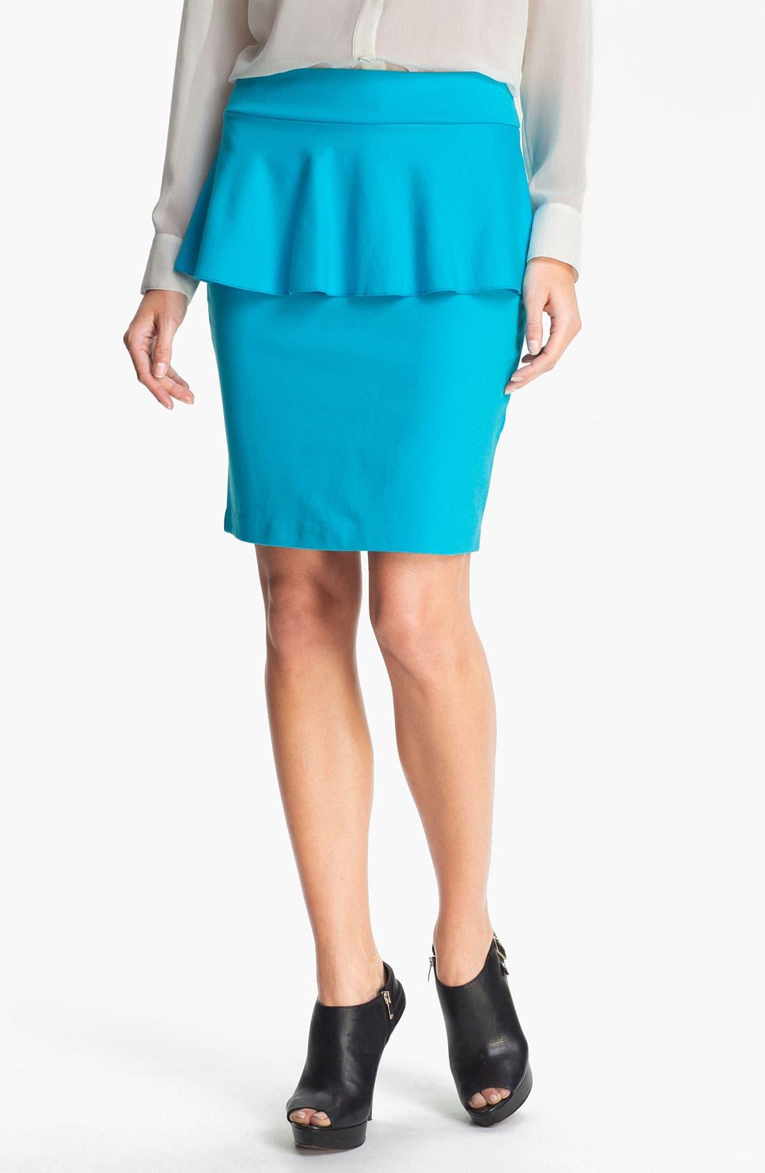 Main Image - Kensie Peplum Ponte Skirt