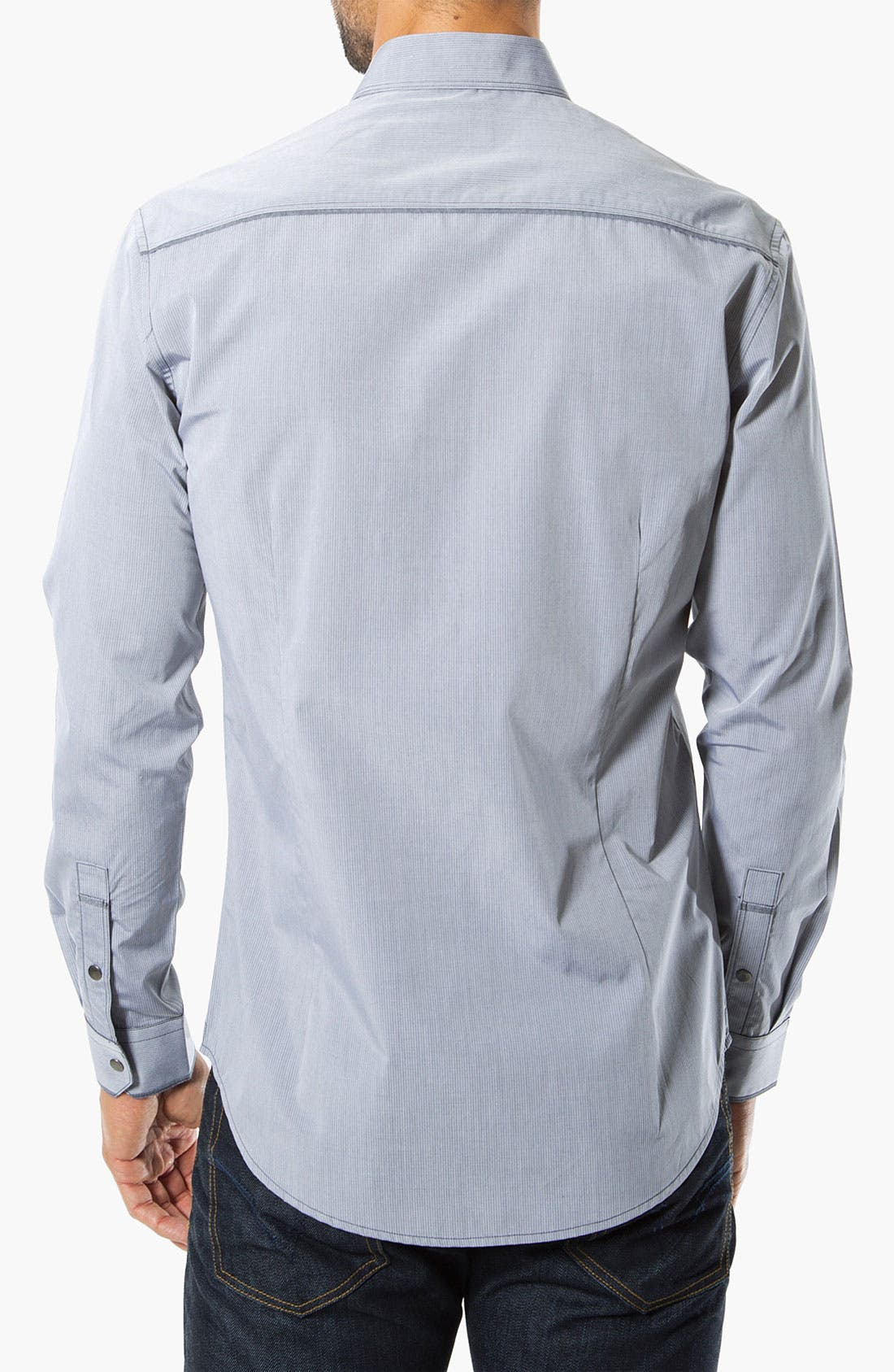 'Shades of Grey' Woven Sport Shirt,                             Alternate thumbnail 2, color,                             Grey