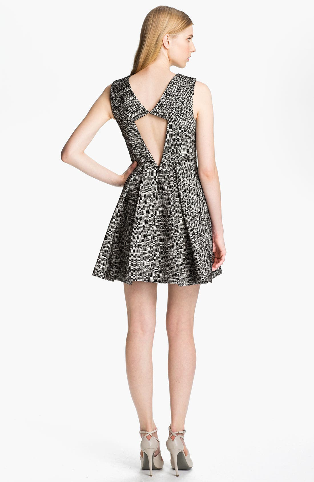 Alternate Image 2  - Robert Rodriguez Raffia Tweed Dress