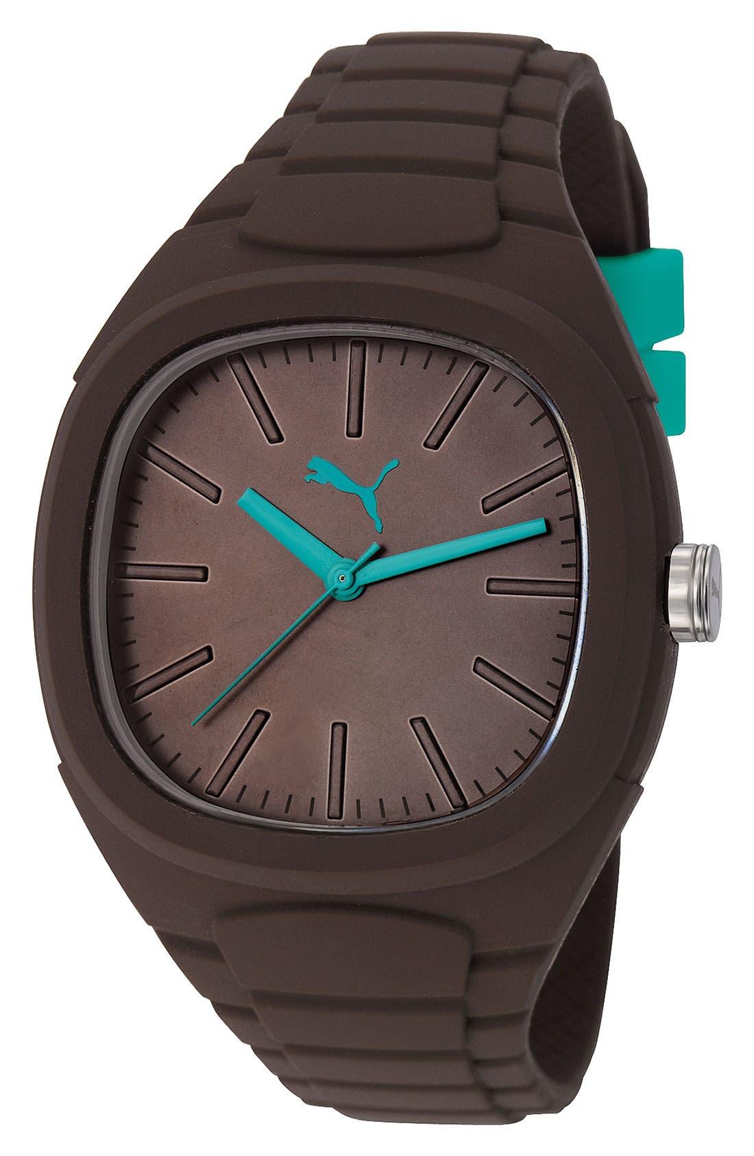 Main Image - PUMA 'Bubblegum - Large' Silicone Watch, 40mm x 44mm