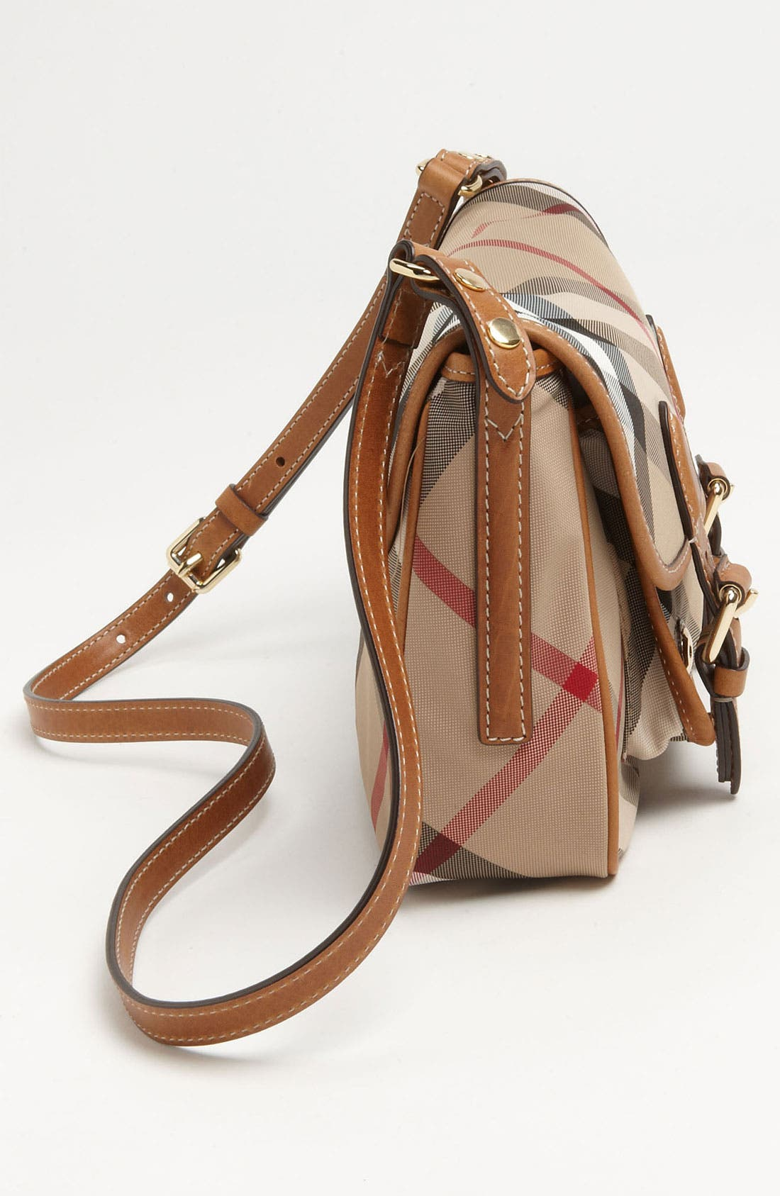 Alternate Image 2  - Burberry 'Liv' Check Print Crossbody Bag (Girls)