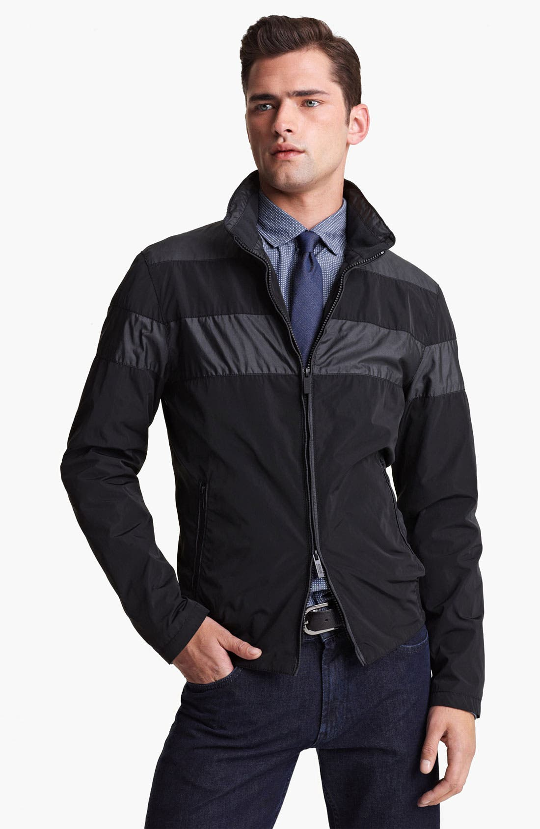 Alternate Image 1 Selected - Armani Collezioni Water Repellent Jacket