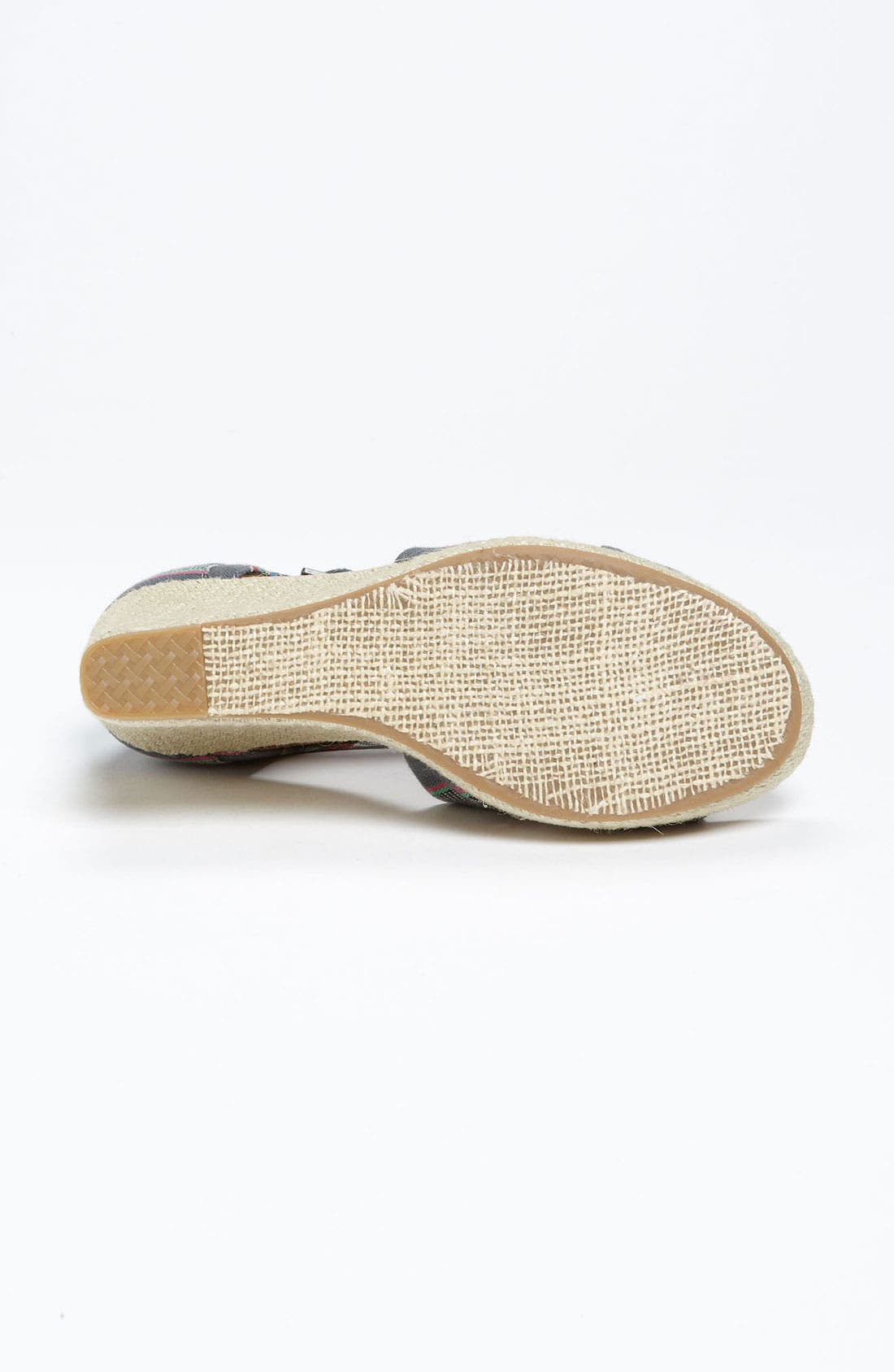Alternate Image 4  - TOMS Denim Stripe Wedge Sandal