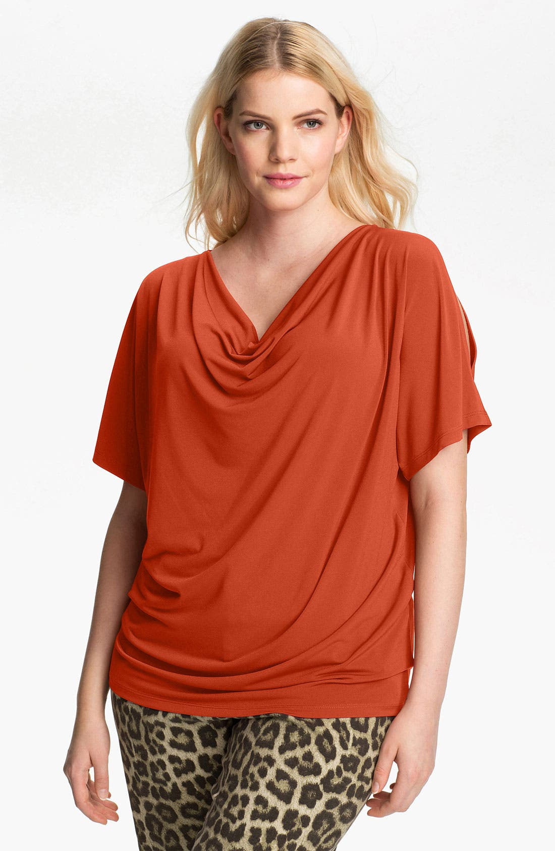 Alternate Image 1 Selected - MICHAEL Michael Kors Cold Shoulder Knit Top (Plus)