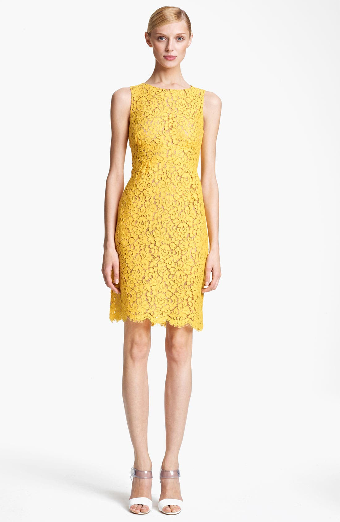 Alternate Image 1 Selected - Michael Kors Floral Lace Shift Dress
