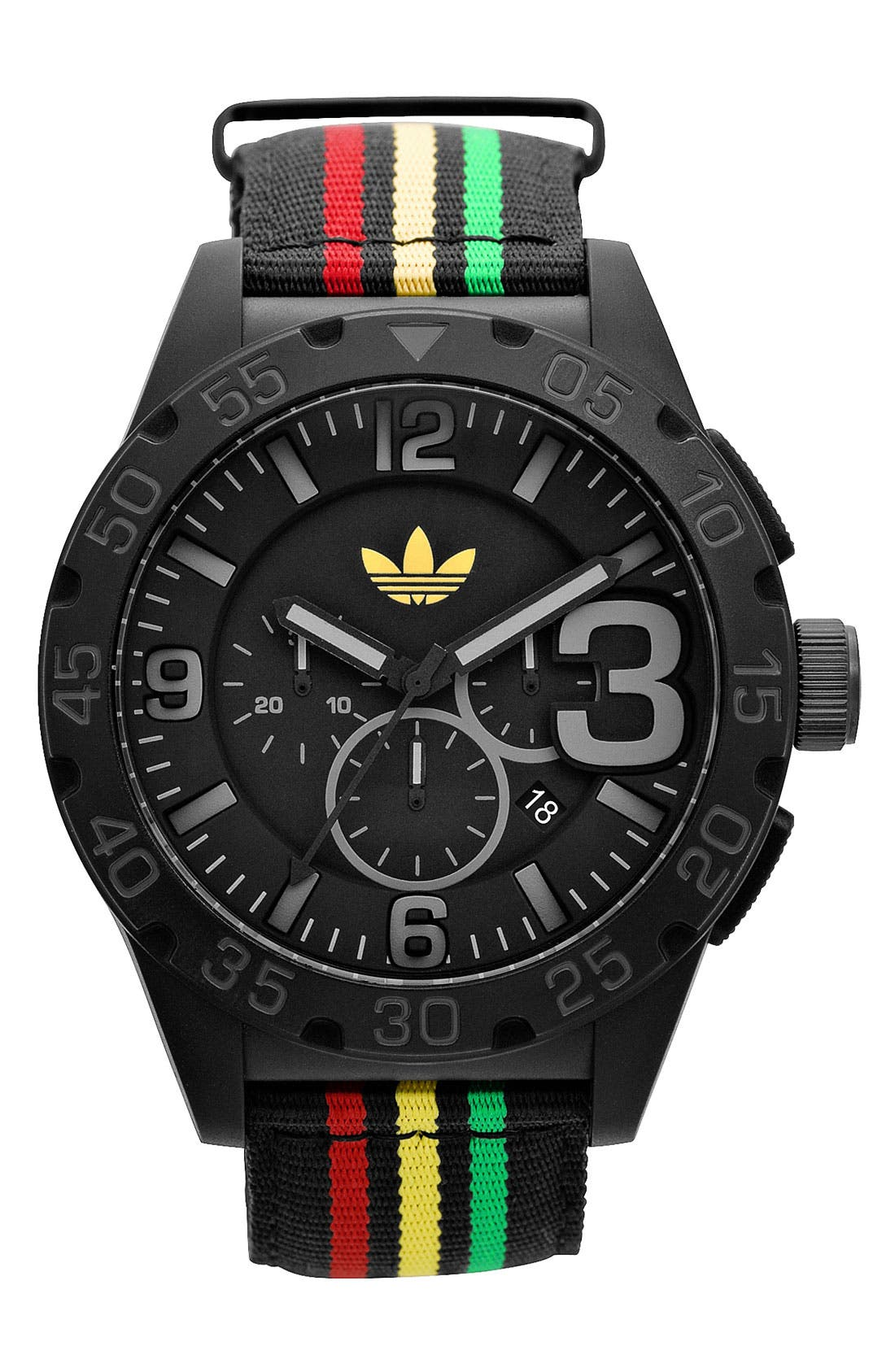 Alternate Image 1 Selected - adidas Originals 'Newburgh' Nylon Strap Watch, 48mm
