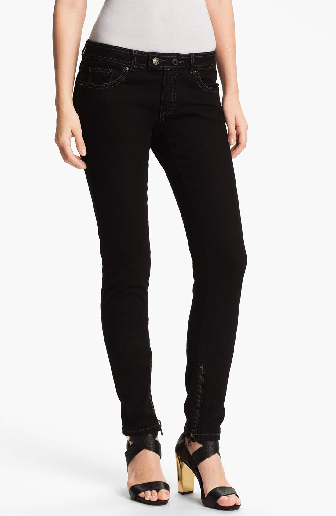 Main Image - Rachel Zoe 'Julie' Piped Detail Skinny Stretch Jeans