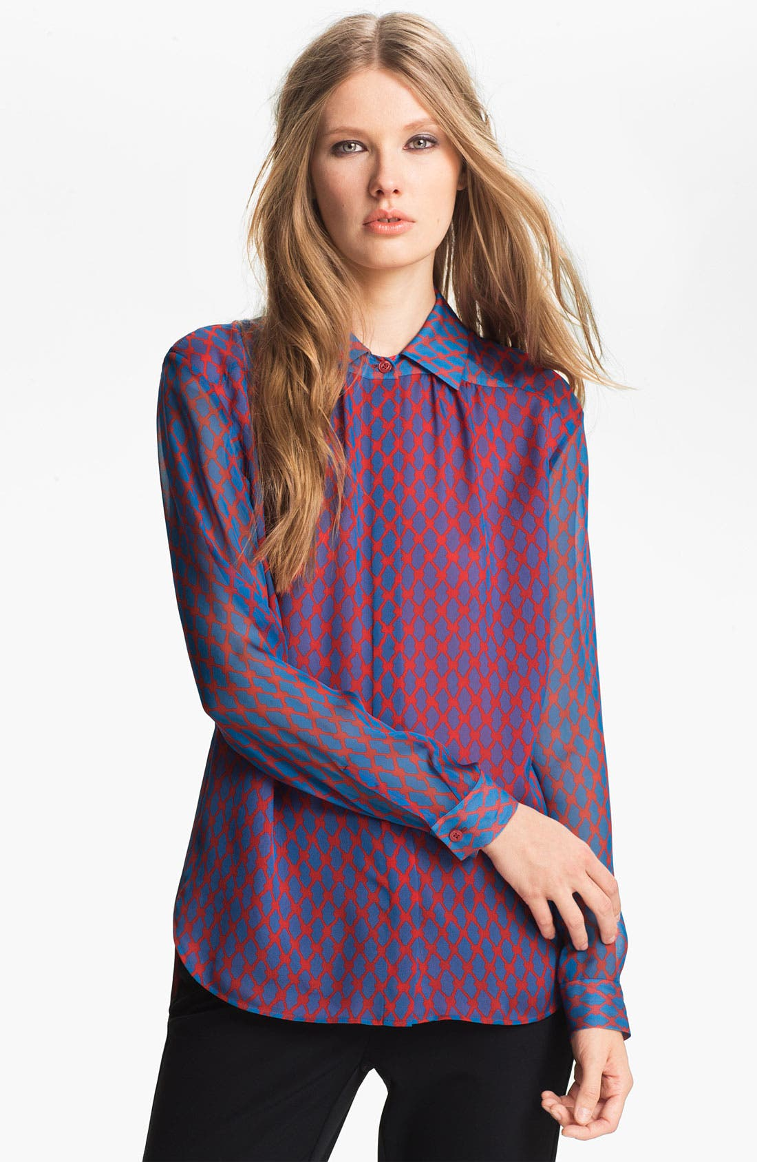Alternate Image 3  - Miss Wu Geometric Print Chiffon Blouse (Nordstrom Exclusive)