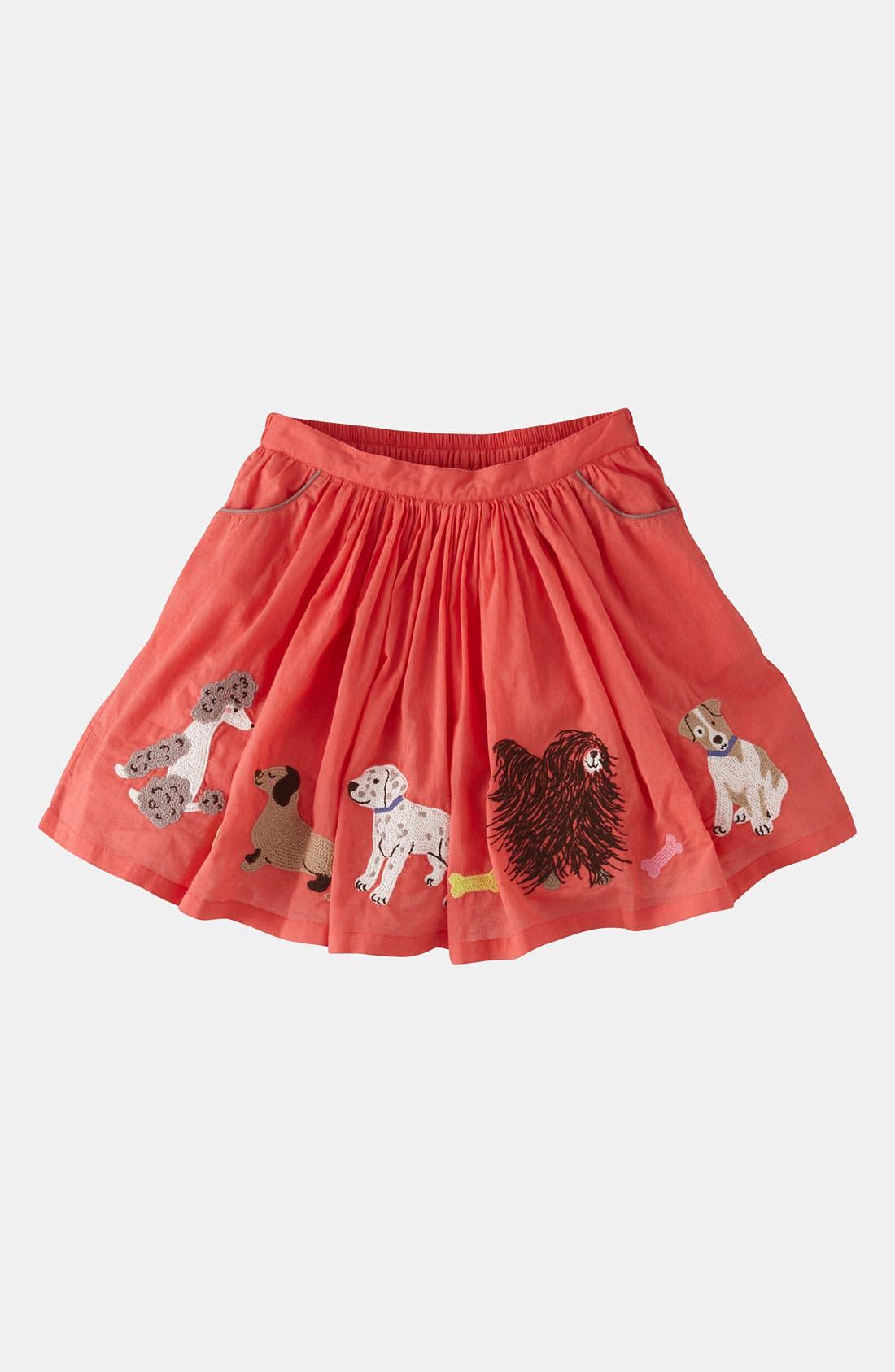 Main Image - Mini Boden Embroidered Skirt (Little Girls & Big Girls)