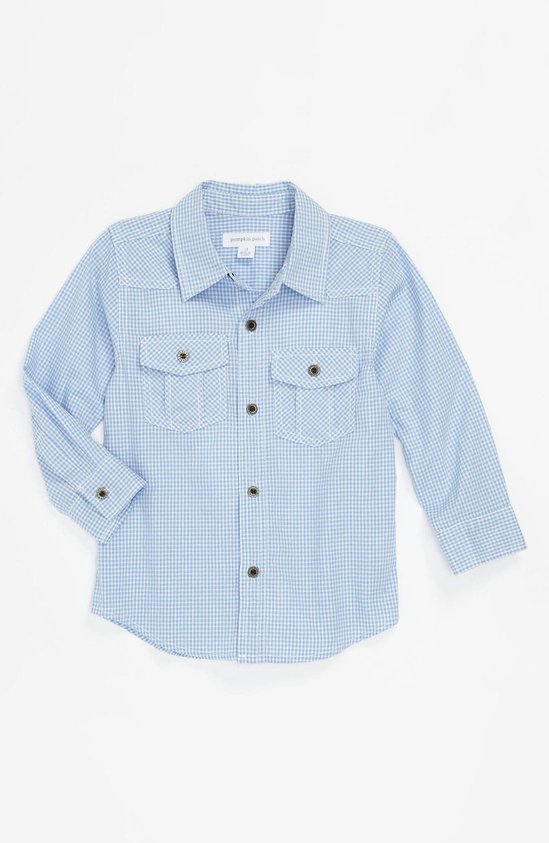 Alternate Image 1 Selected - Pumpkin Patch Gingham Shirt (Baby)