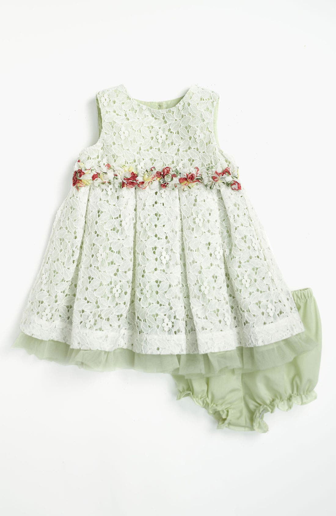 Alternate Image 1 Selected - Pippa & Julie Lace Dress & Bloomers (Baby Girls)
