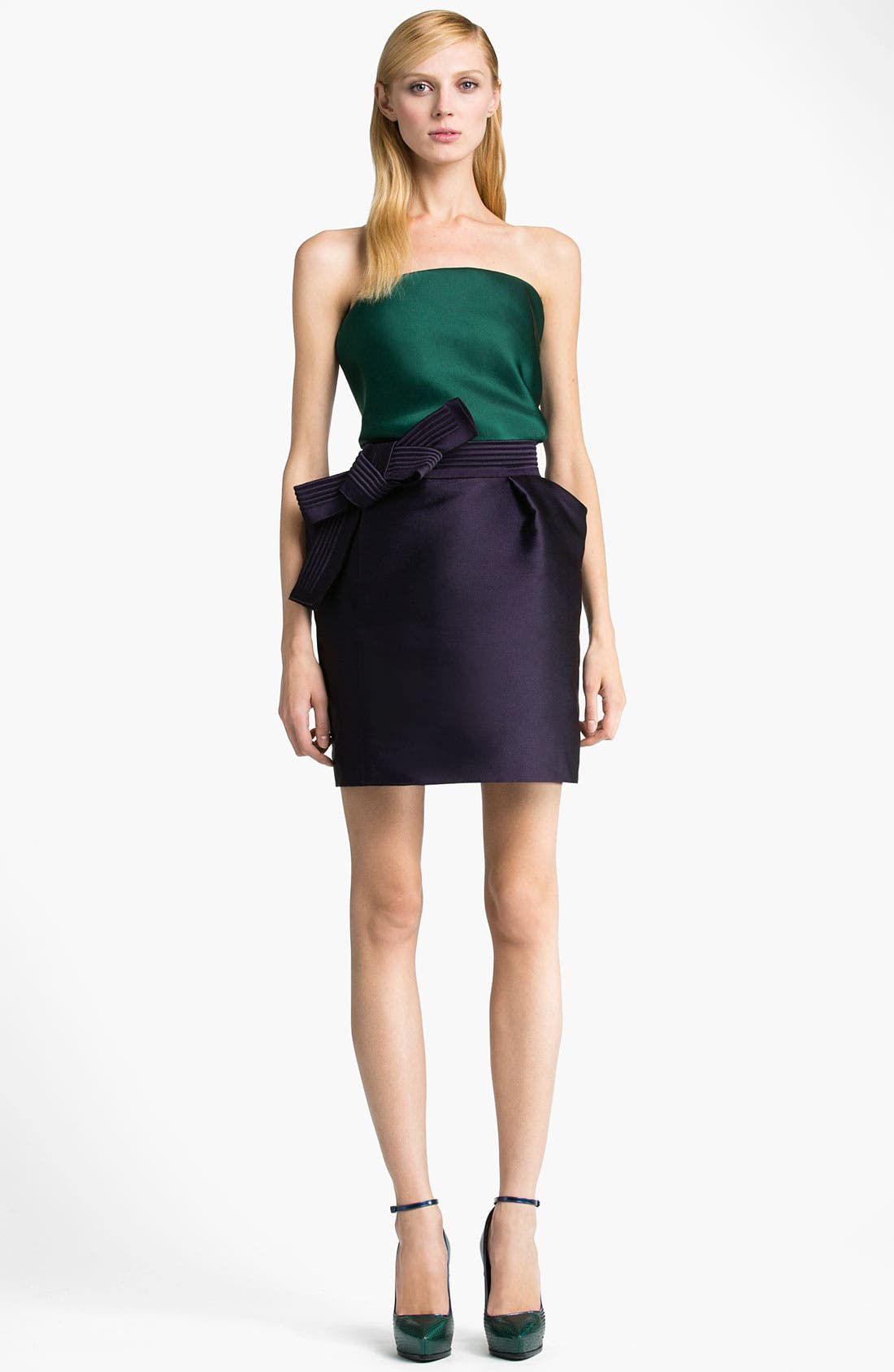 Alternate Image 4  - Lanvin Bow Detail Techno Skirt