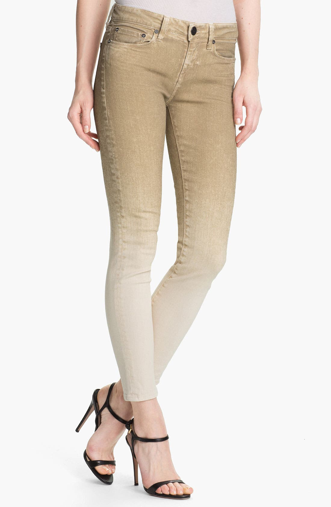 Alternate Image 1 Selected - Vince Colored Skinny Stretch Ankle Jeans (Khaki)