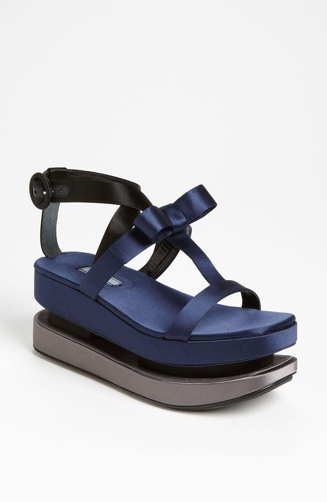 Alternate Image 1 Selected - Prada T-Strap Platform Sandal