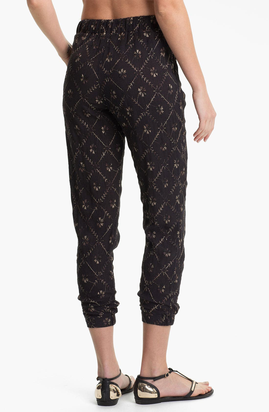 Alternate Image 2  - Free People 'Storm Chaser' Embroidered Jogging Pants