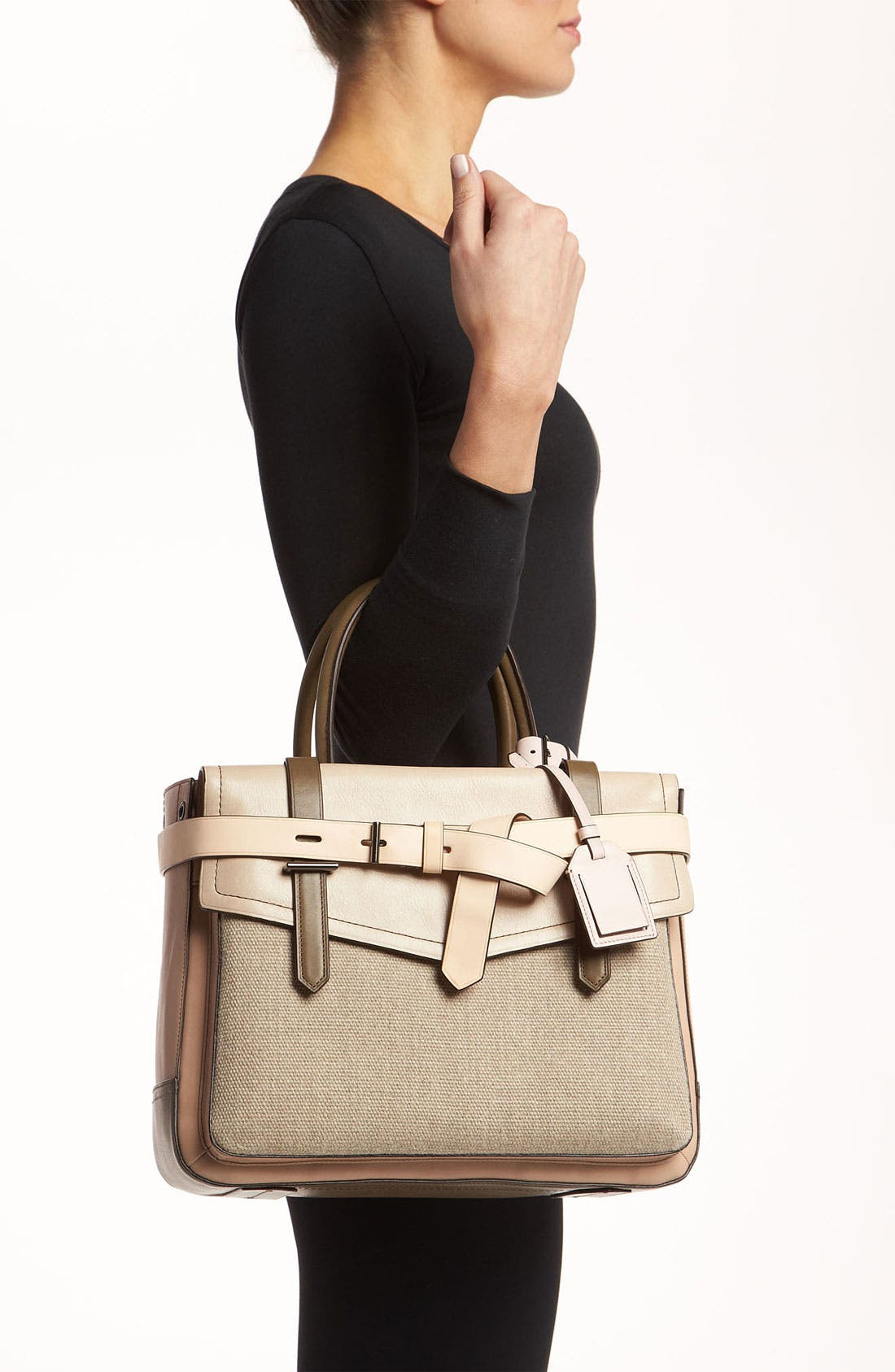 Alternate Image 2  - Reed Krakoff 'Boxer' Colorblocked Leather Satchel